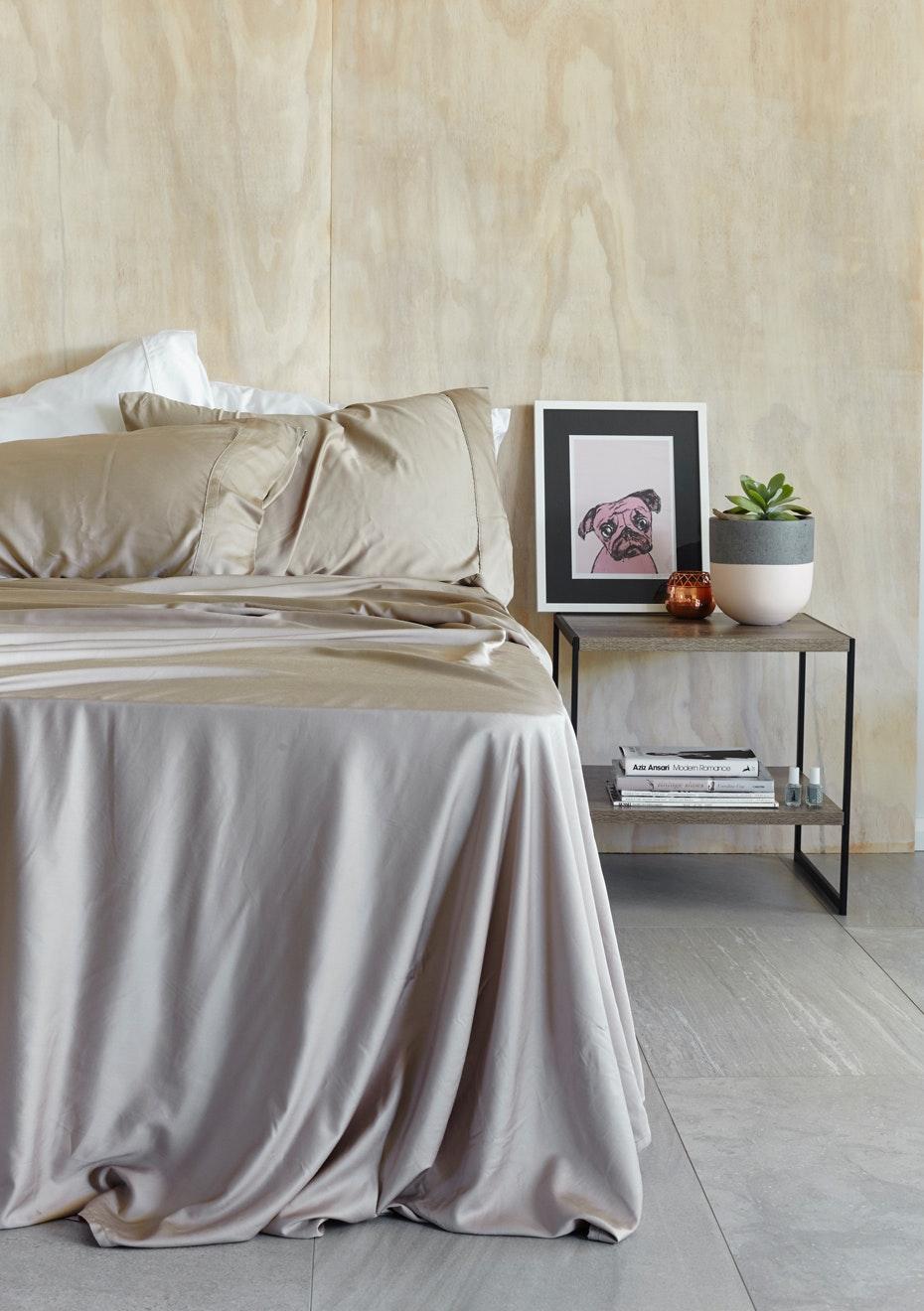 100% Organic Bamboo Sheet Set Queen  Taupe   100% BAMBOO Bed U0026 Bath   Onceit