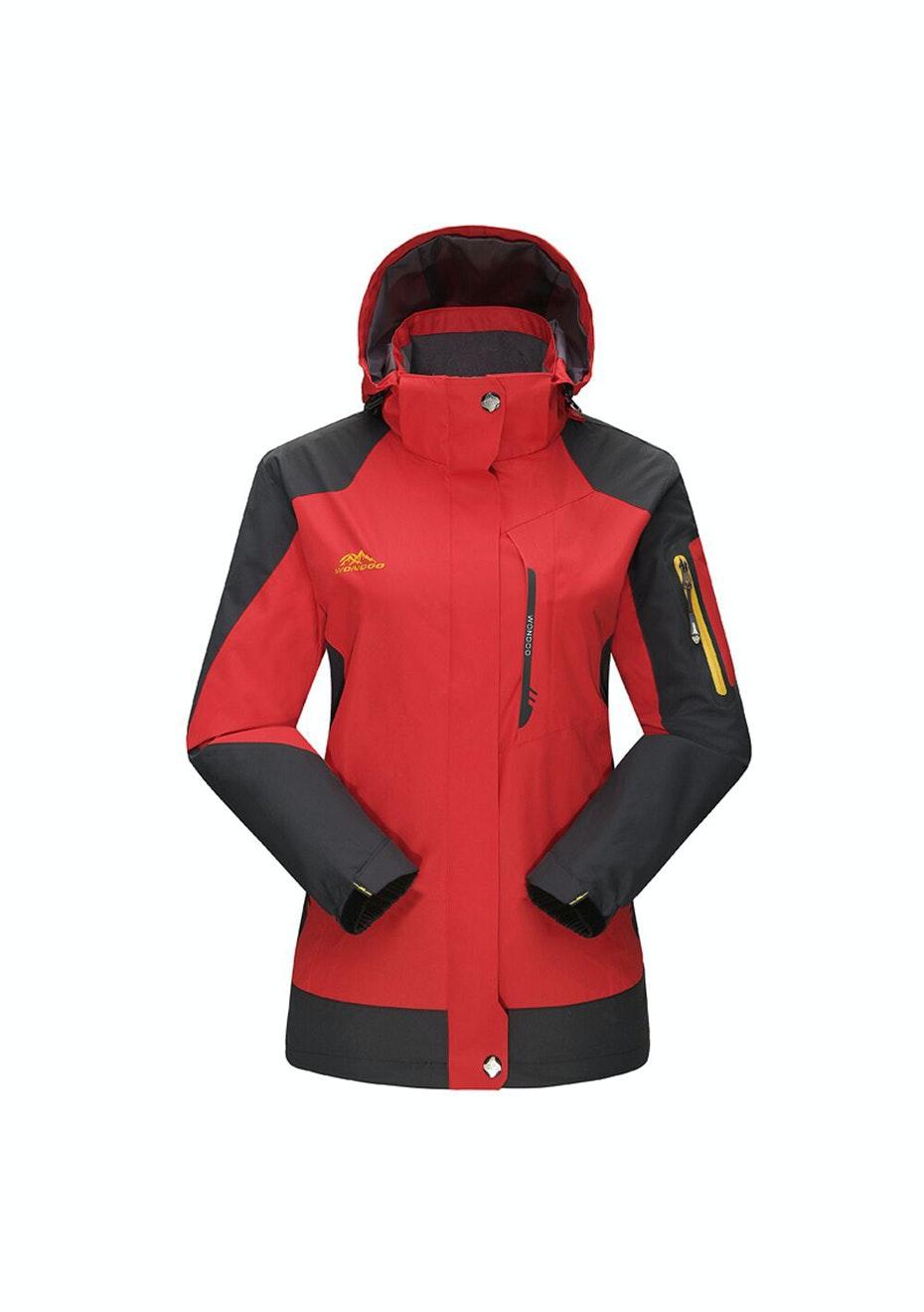Women 2-in-1 WaterProof Jackets - Red
