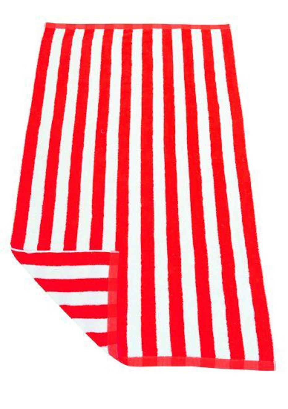 Hawaiian Stripe Beach Towel Red/White
