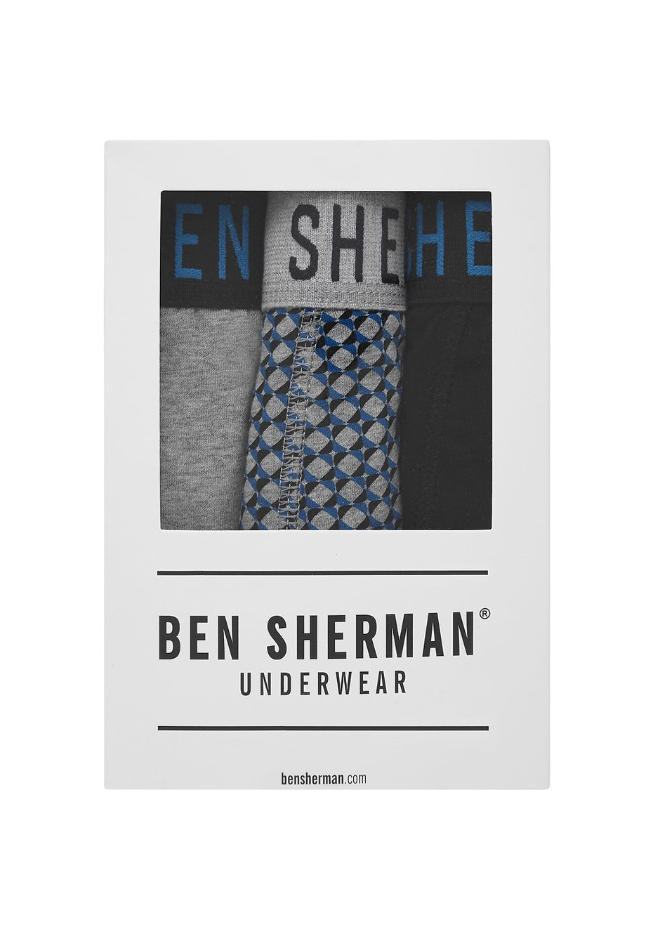 Ben Sherman - Jordan 3 Pack Trunk Grey Marl