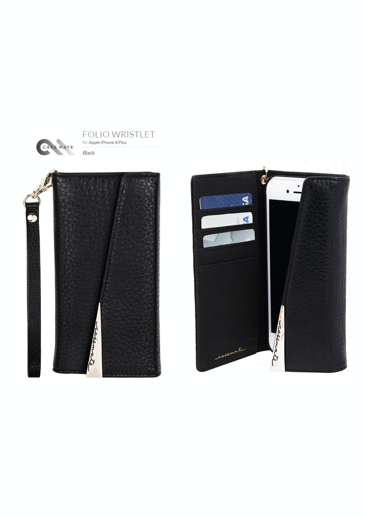 buy online 50b87 4c651 Casemate Apple iPhone 8 Plus / 7 Plus / 6S Plus - Wristlet Folio Case -  Black