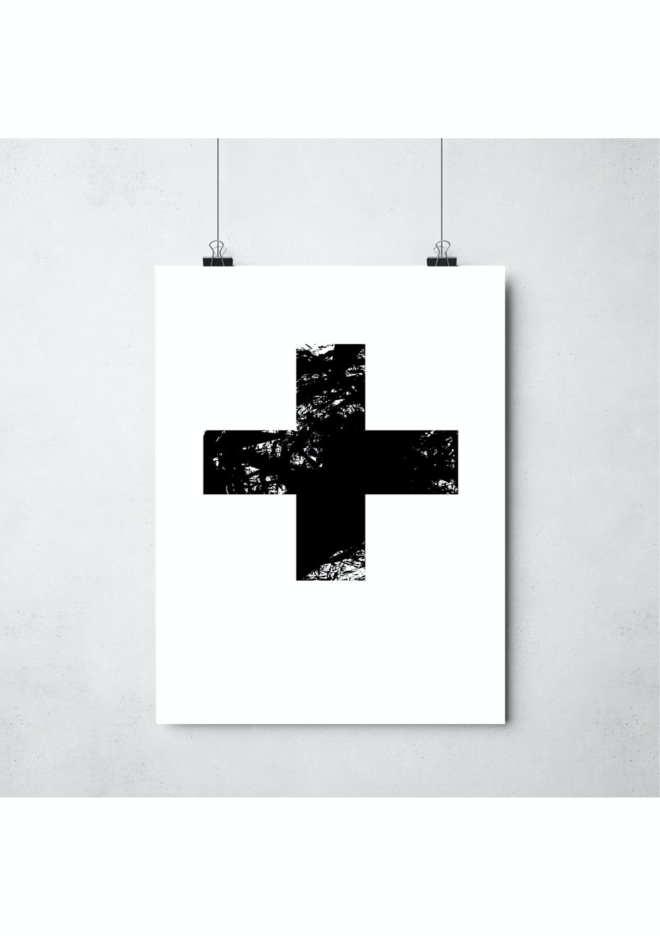 Simply Creative - Cross - A3 Monochrome Print