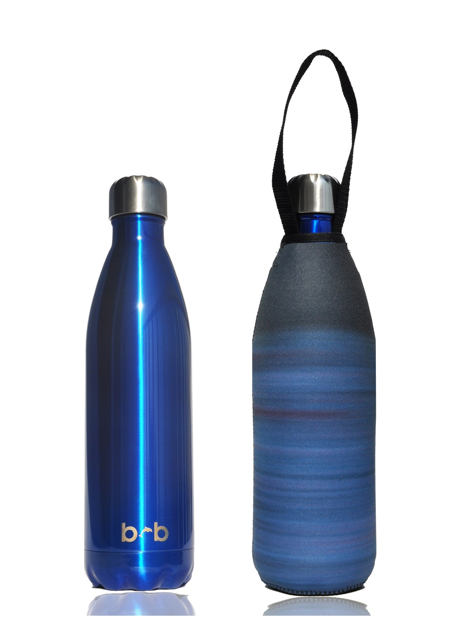 BBBYO - Future Bottle + Carry Cover (Midnight Print) 1000 ml Blue