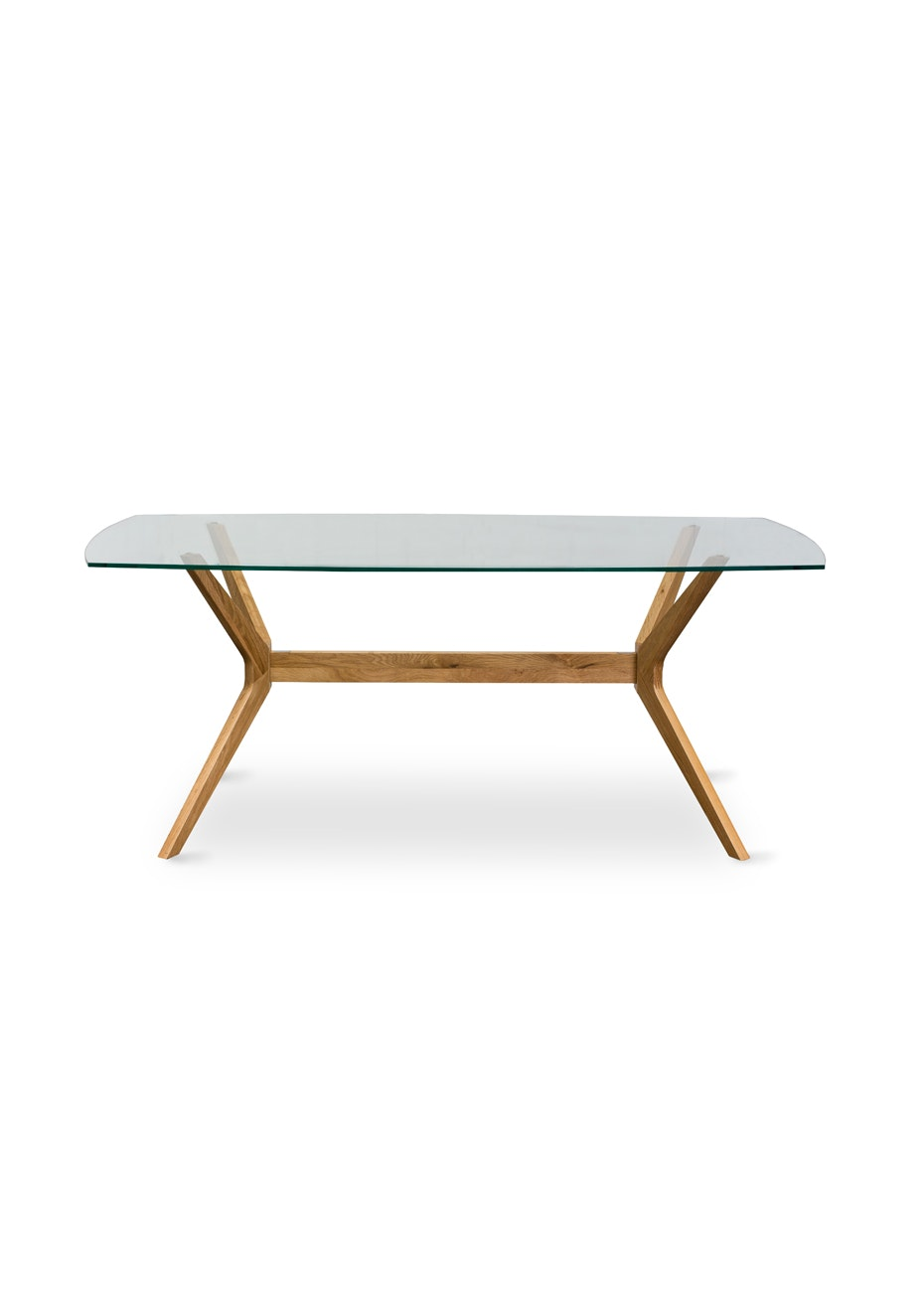 Furniture By Design - Milano Dining Table Glass Top- Light Oak