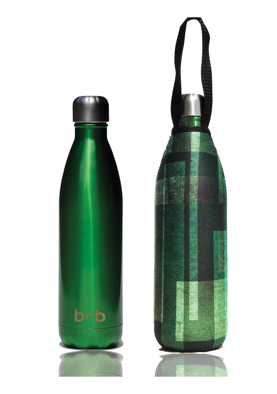 BBBYO - Future Bottle+ Carry Cover (Moss  Print)- 750 ml Green