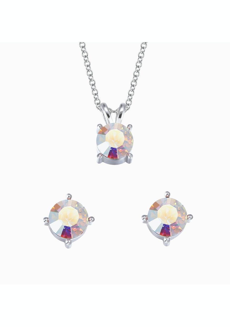 6-in-1 Earring & Necklace Box Set Ft Swarovski Elements