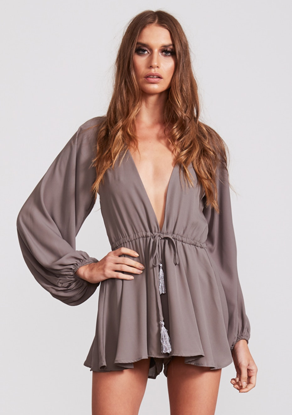 Lioness - Free Love Playsuit - Grey