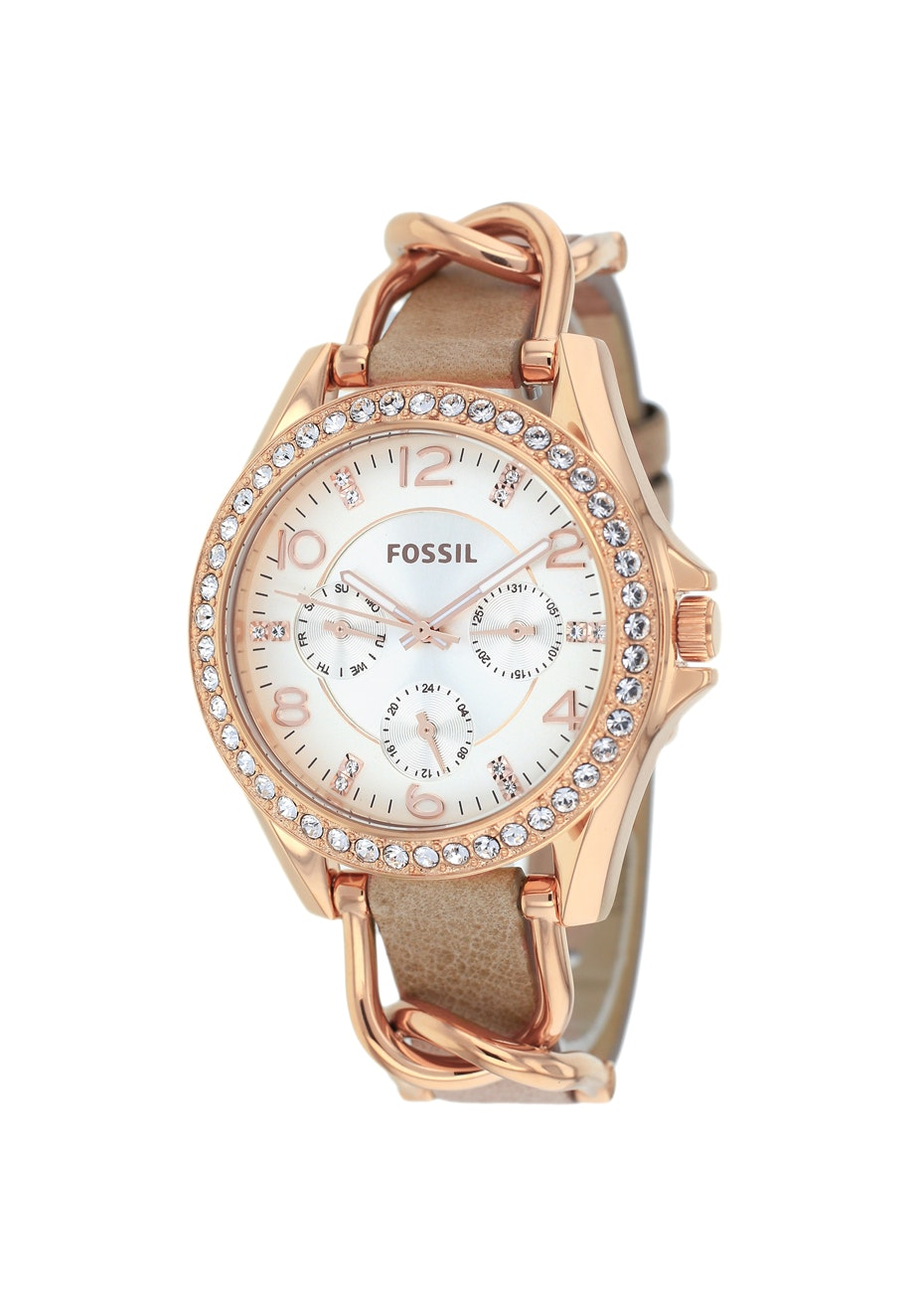 Fossil Women's Riley - Silver/Brown