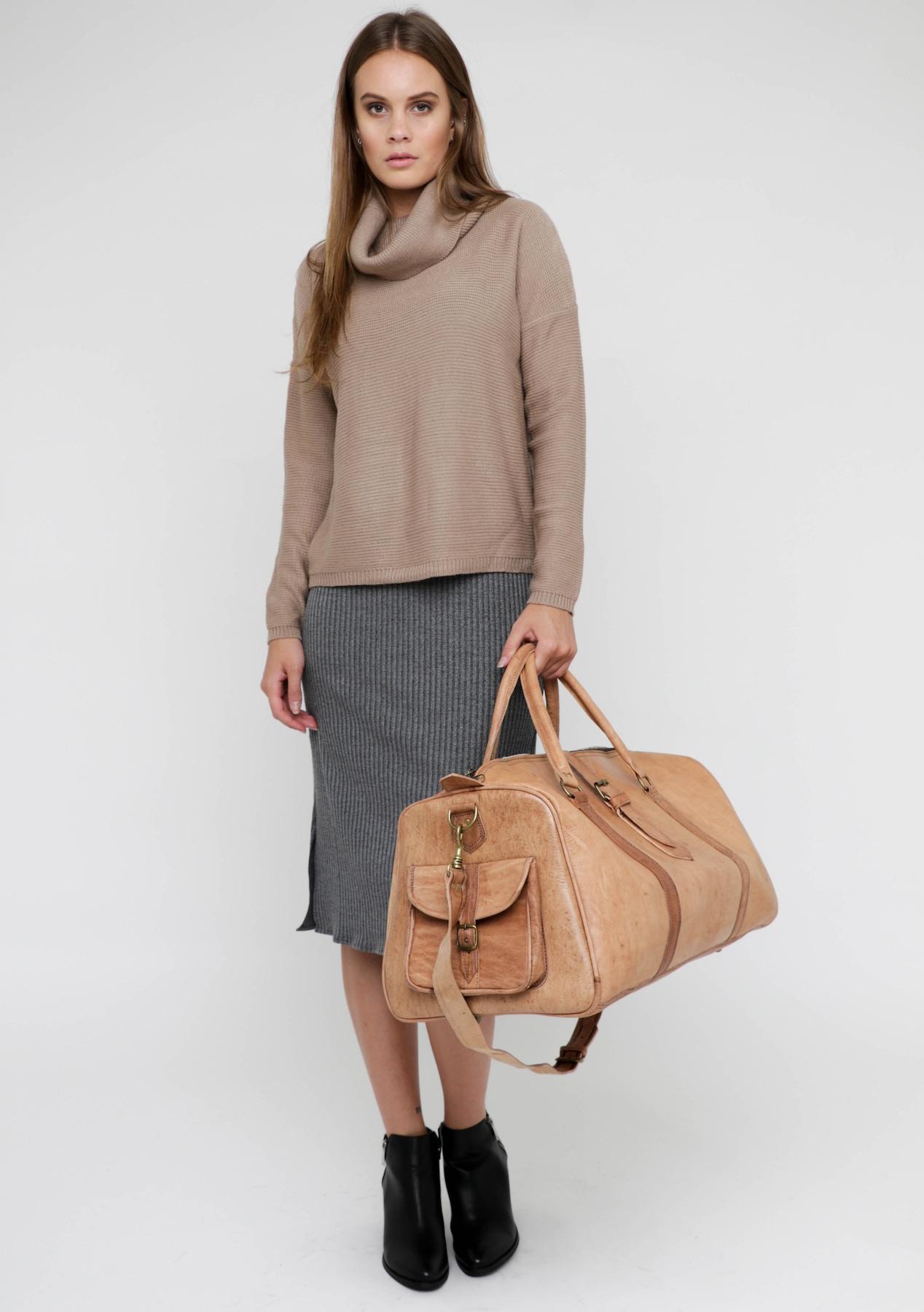hermes bag cost - Handcrafted Genuine Leather weekend bag - Natural Tan - Handbags ...