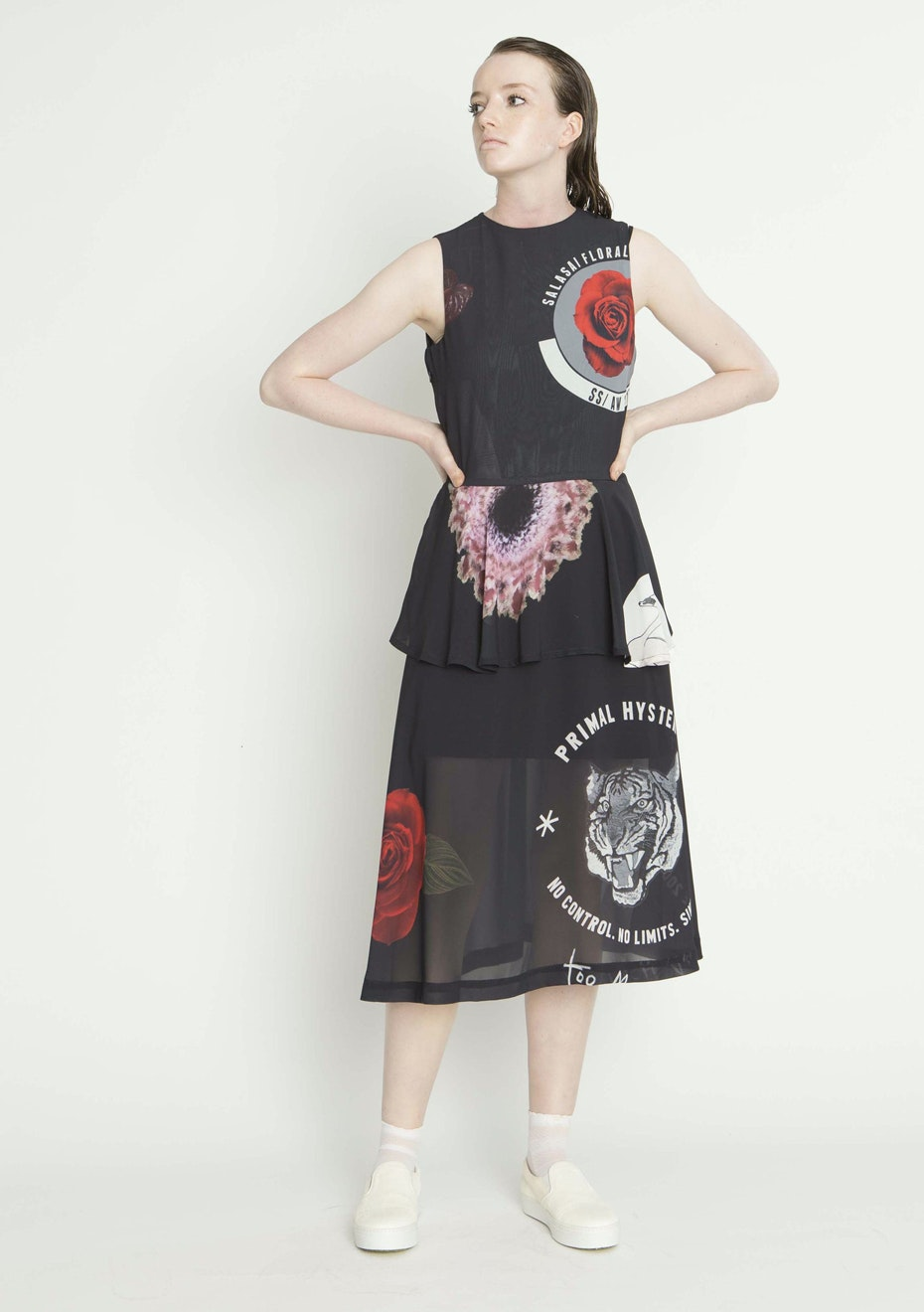 Salasai - WORLD OF MAYHEM DRESS - STICKER PRINT