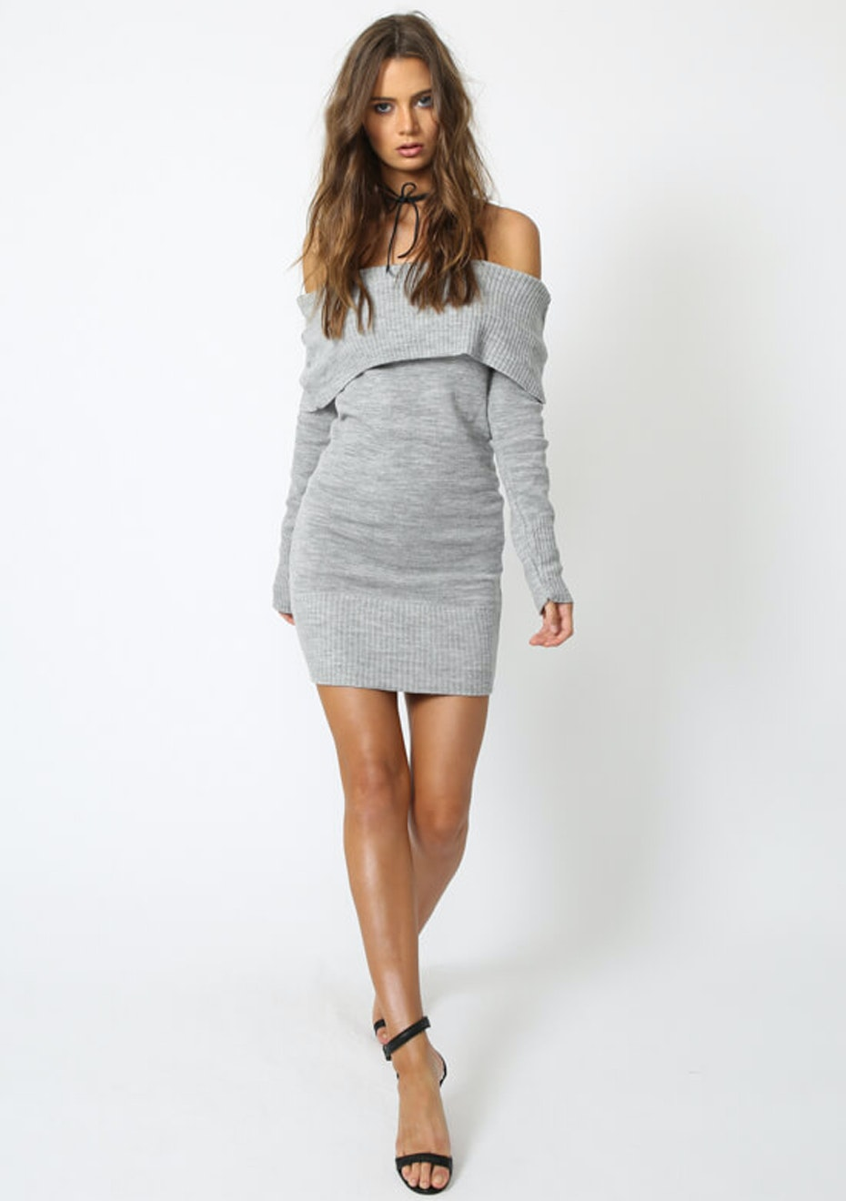 Lioness - Before The Storm Knit Dress - Grey