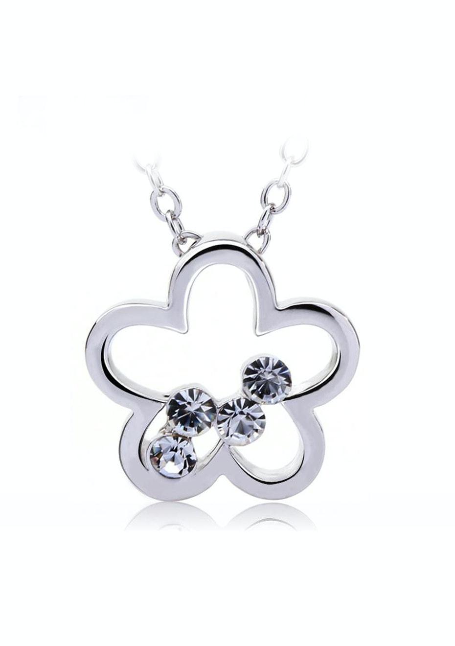 Clover Kepper Pendant Necklace Ft Swarovski Elements