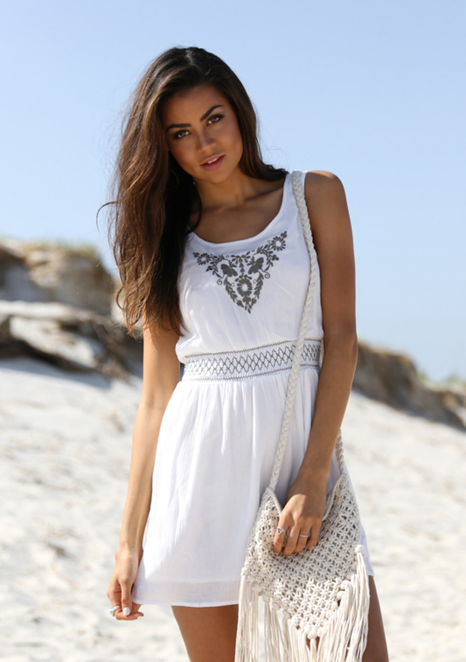 Madison - Traveller Dress - White