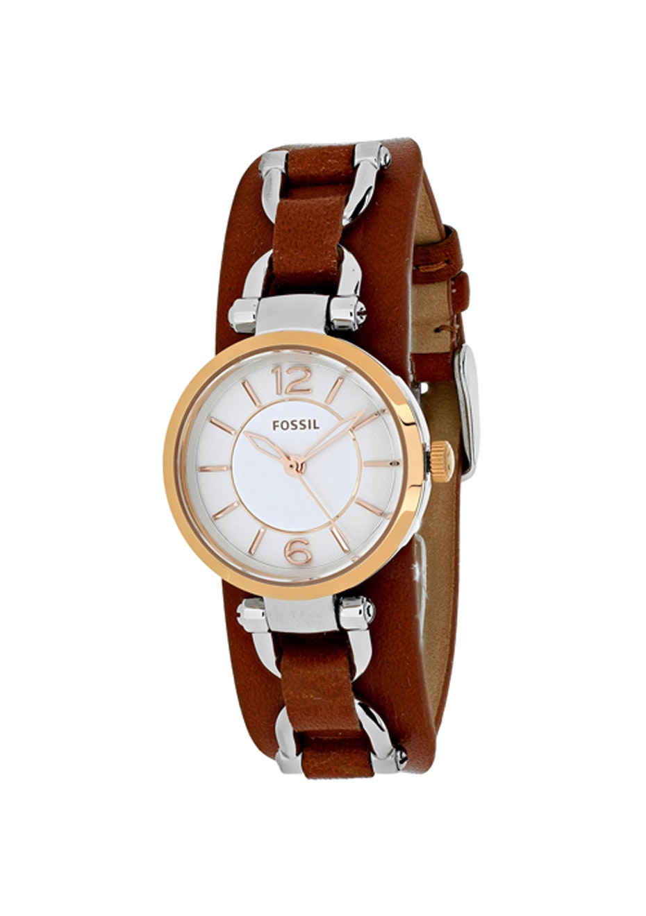 Fossil Women's Georgia Artisan - Silver/Brown