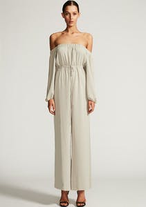 478aa1bbbf3 Shona Joy - Core Off The Shoulder Jumpsuit - Oyster