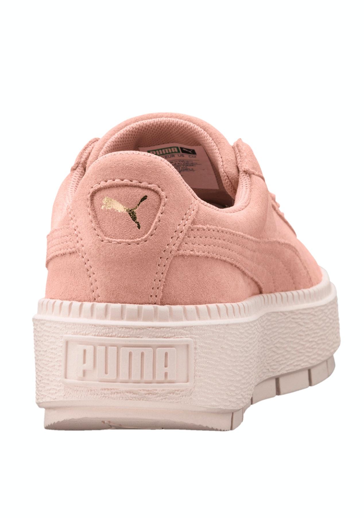 5e1f89a23ad42c Puma Womens - Suede Platform Trace - Peach - PUMA Under  100 Mega Sale -  Onceit