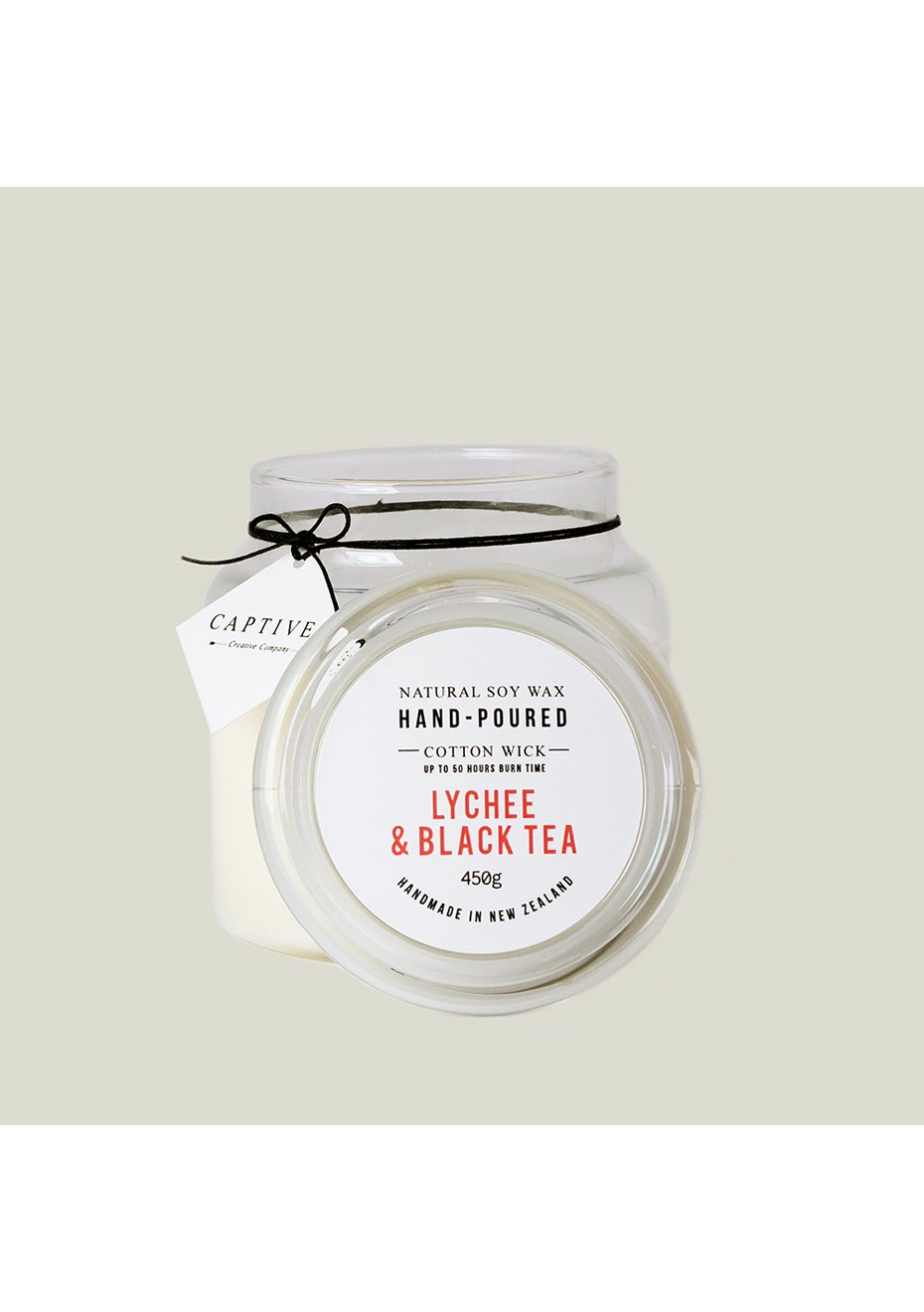 Captives Cotton Wick Candle - Lychee/Black Tea