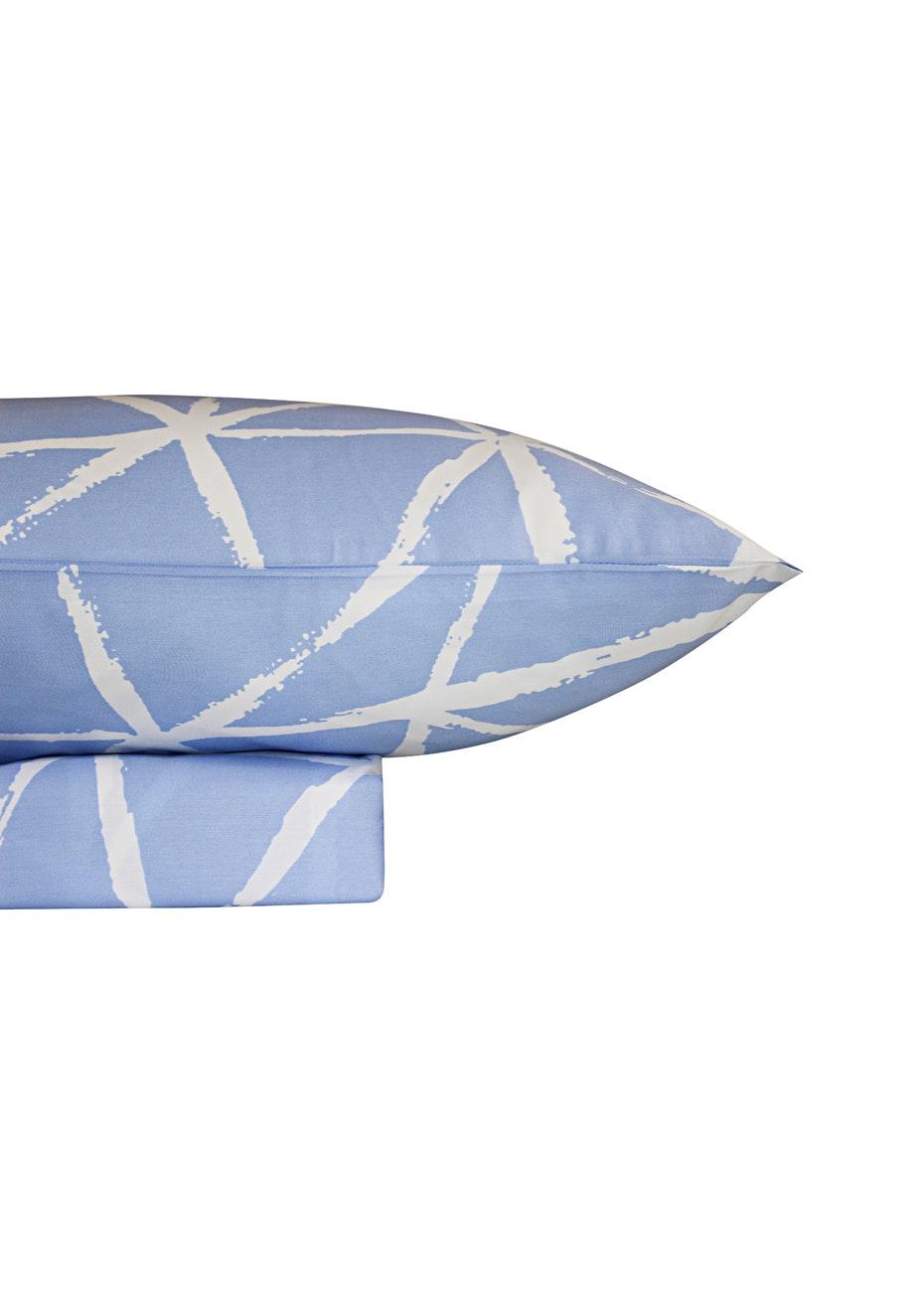 1000 Thread Count – Kyoto Print Sheet Sets -Bluebird - King Bed