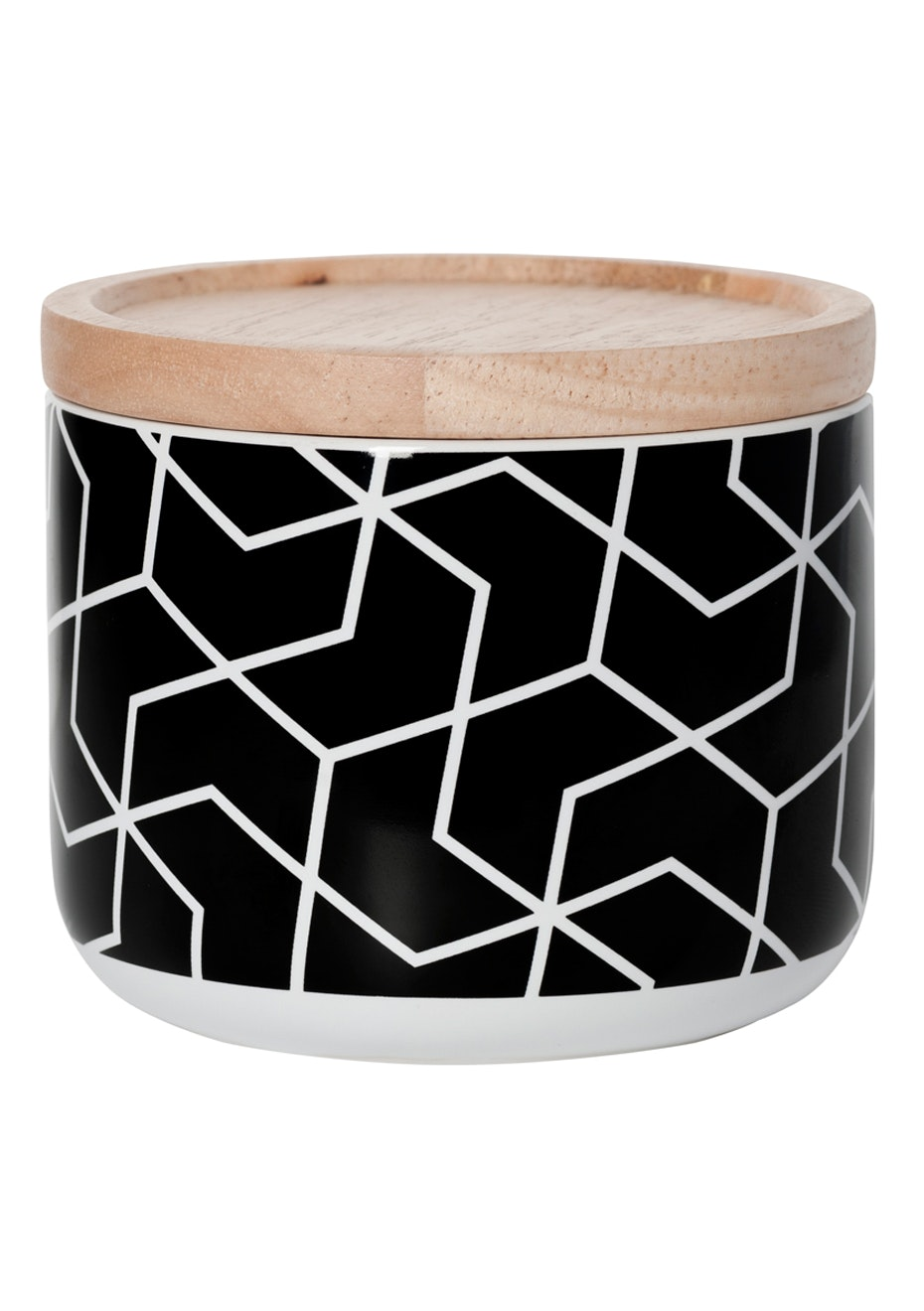 General Eclectic - Small Canister Spiral Hex Black