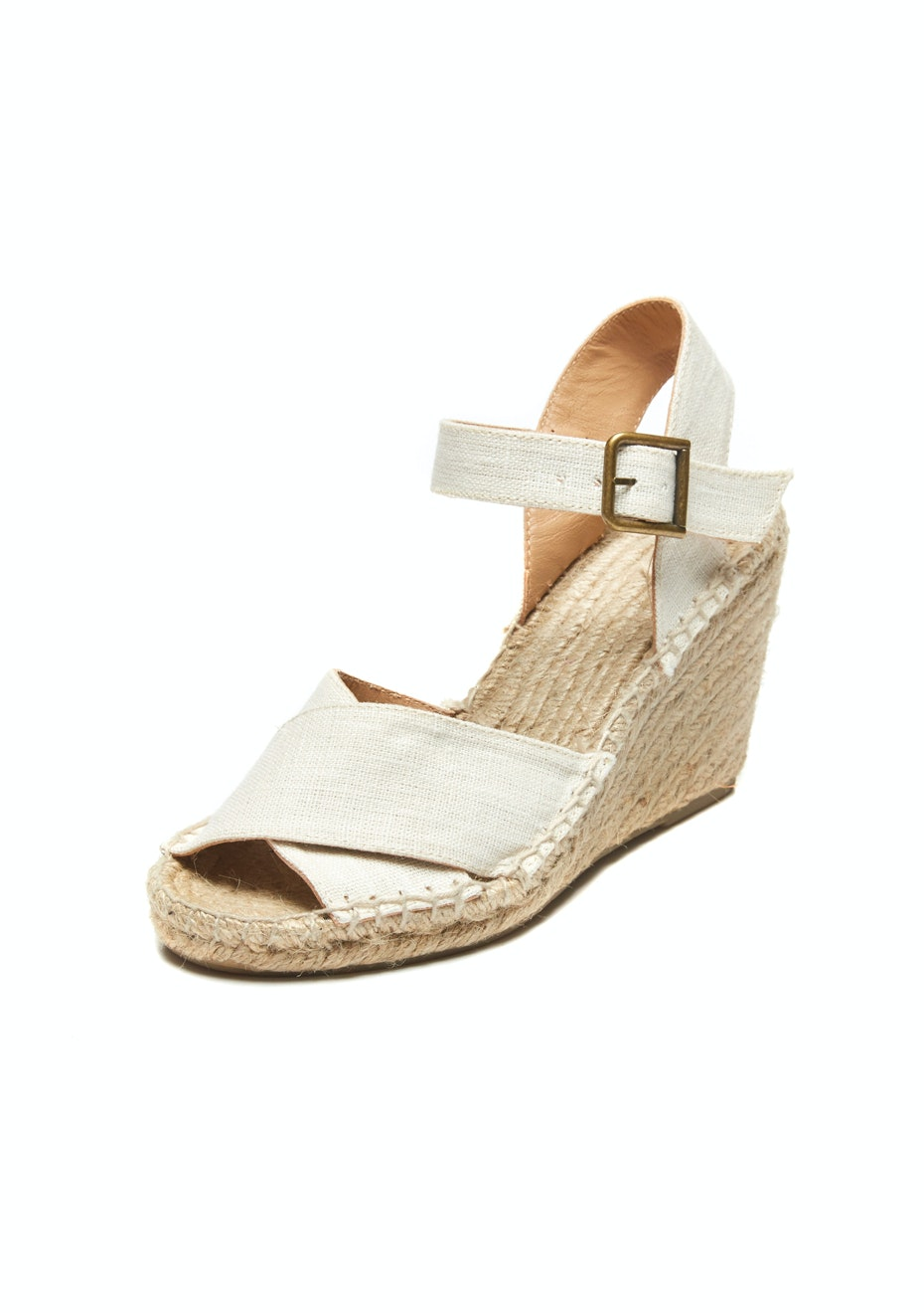 Soludos - Criss-Cross Wedge - Ivory