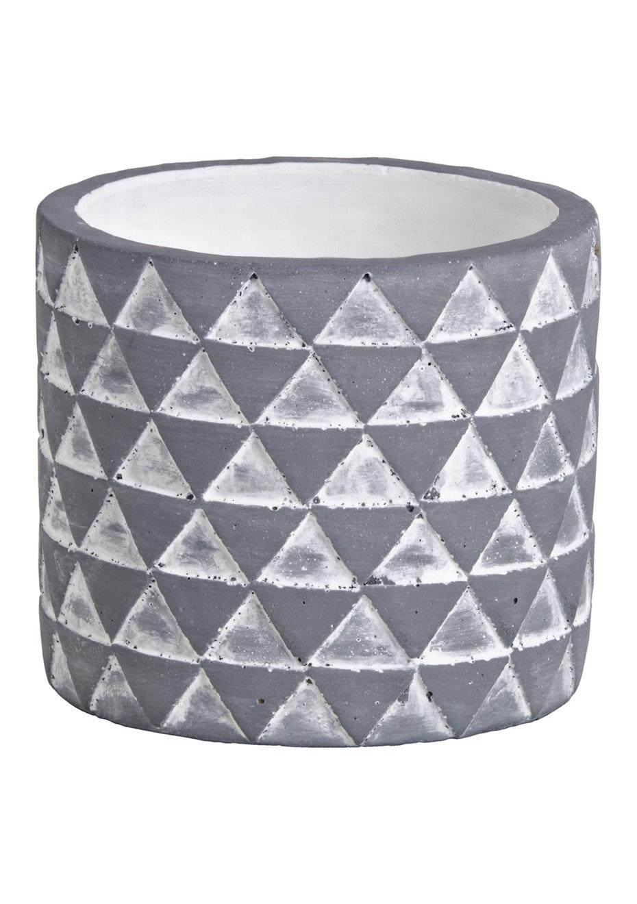 Jason - Concrete Triangles Planter - Grey