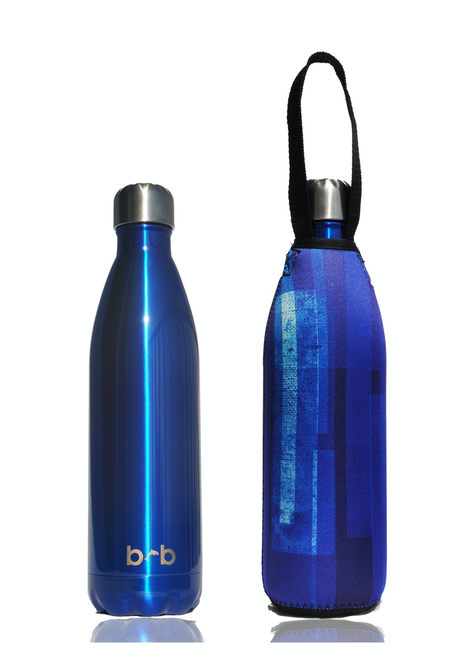 BBBYO - Future Bottle+ Carry Cover (Window Print) - 500 ml Blue