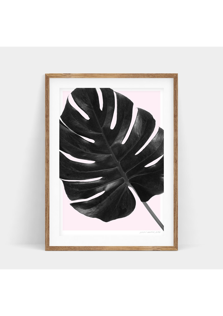 Simply Creative - Blush Monstera - A3 Monochrome Print