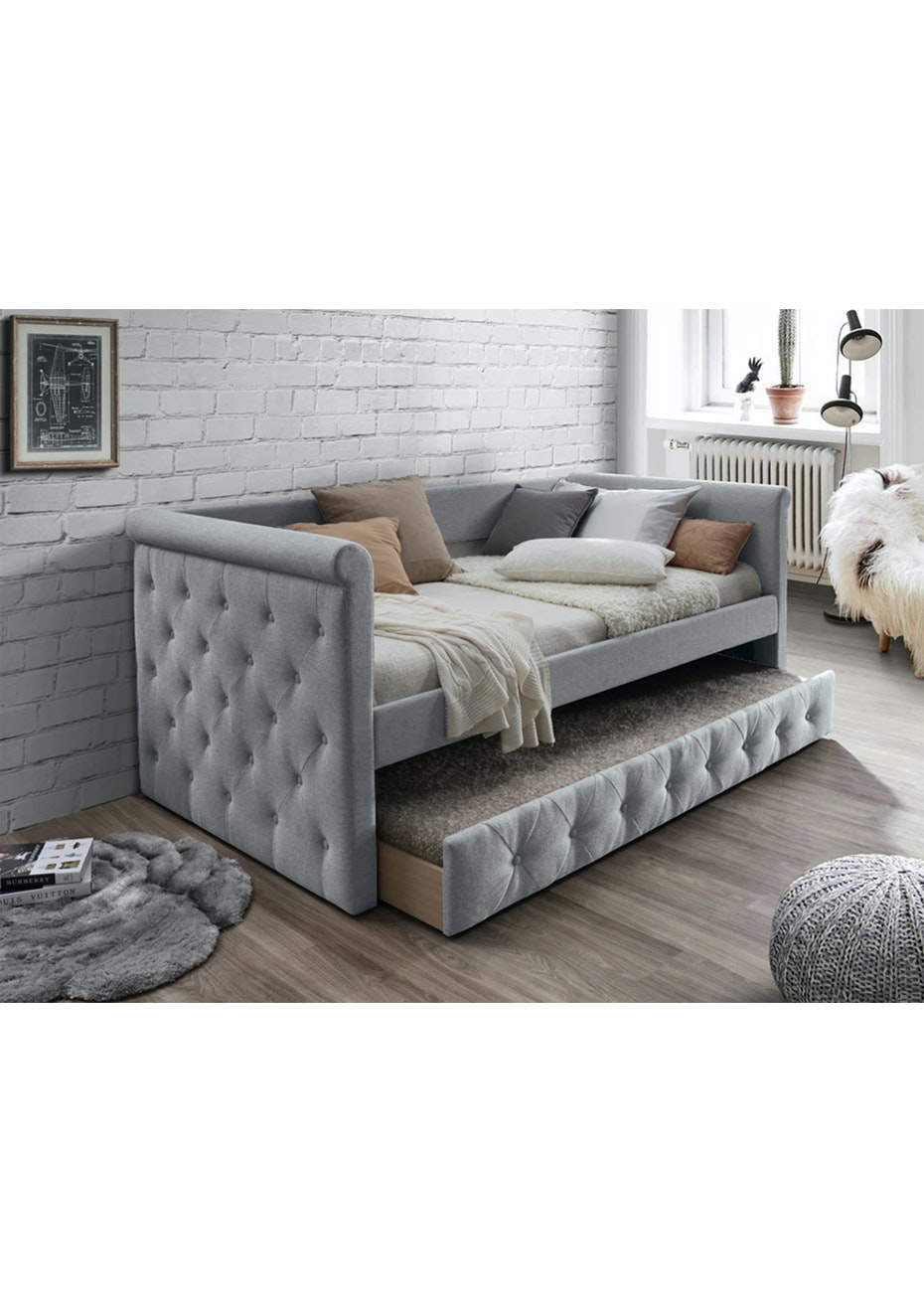 Lucetta Day Bed Light Grey Homeware Furniture Clearout Ships Free Onceit