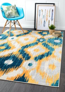 Aail Large Blue Ikat Rug 290x200cm By Culture