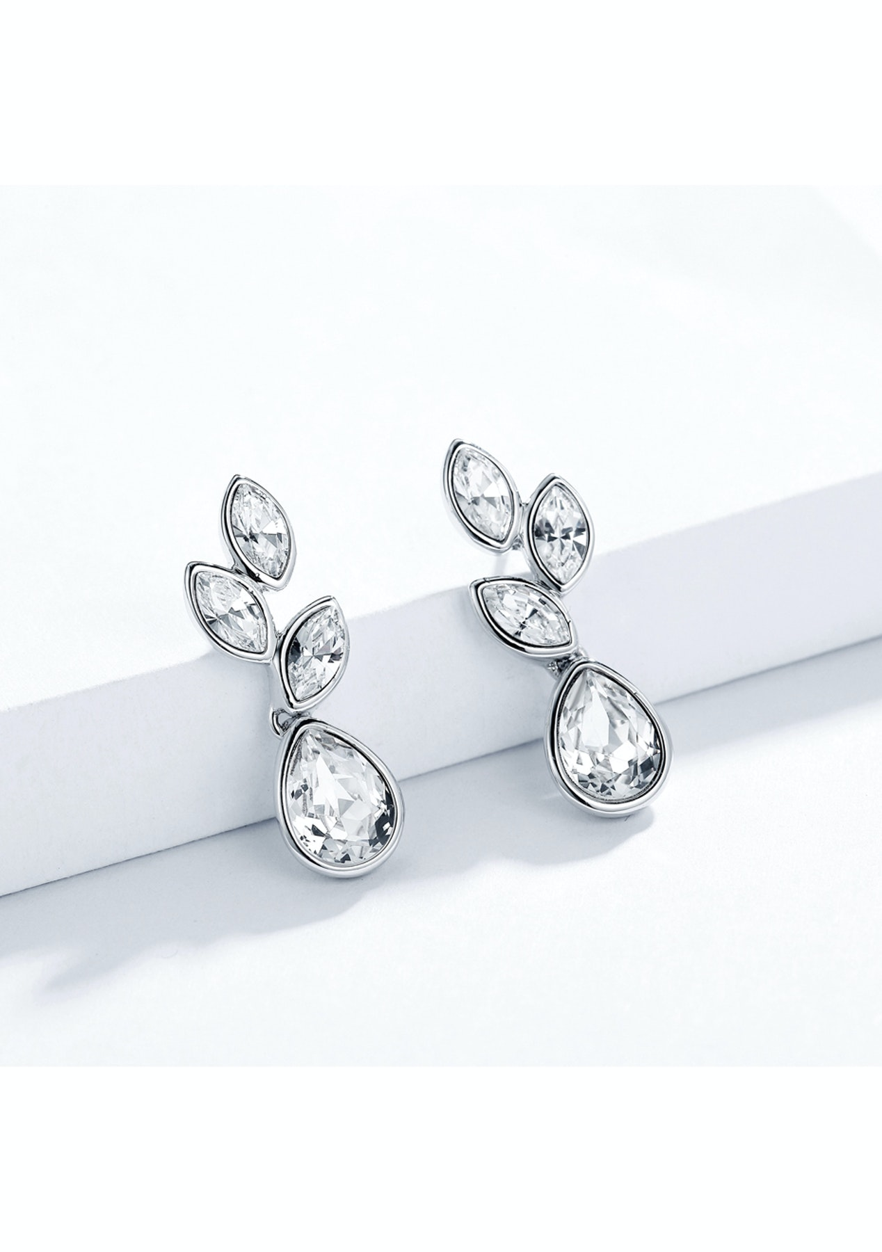 8657c42c23fea Krystal Cotoure - Tranquility Drop Earrings with Swarovski Crystals Bridal  Wedding WGP MYJS