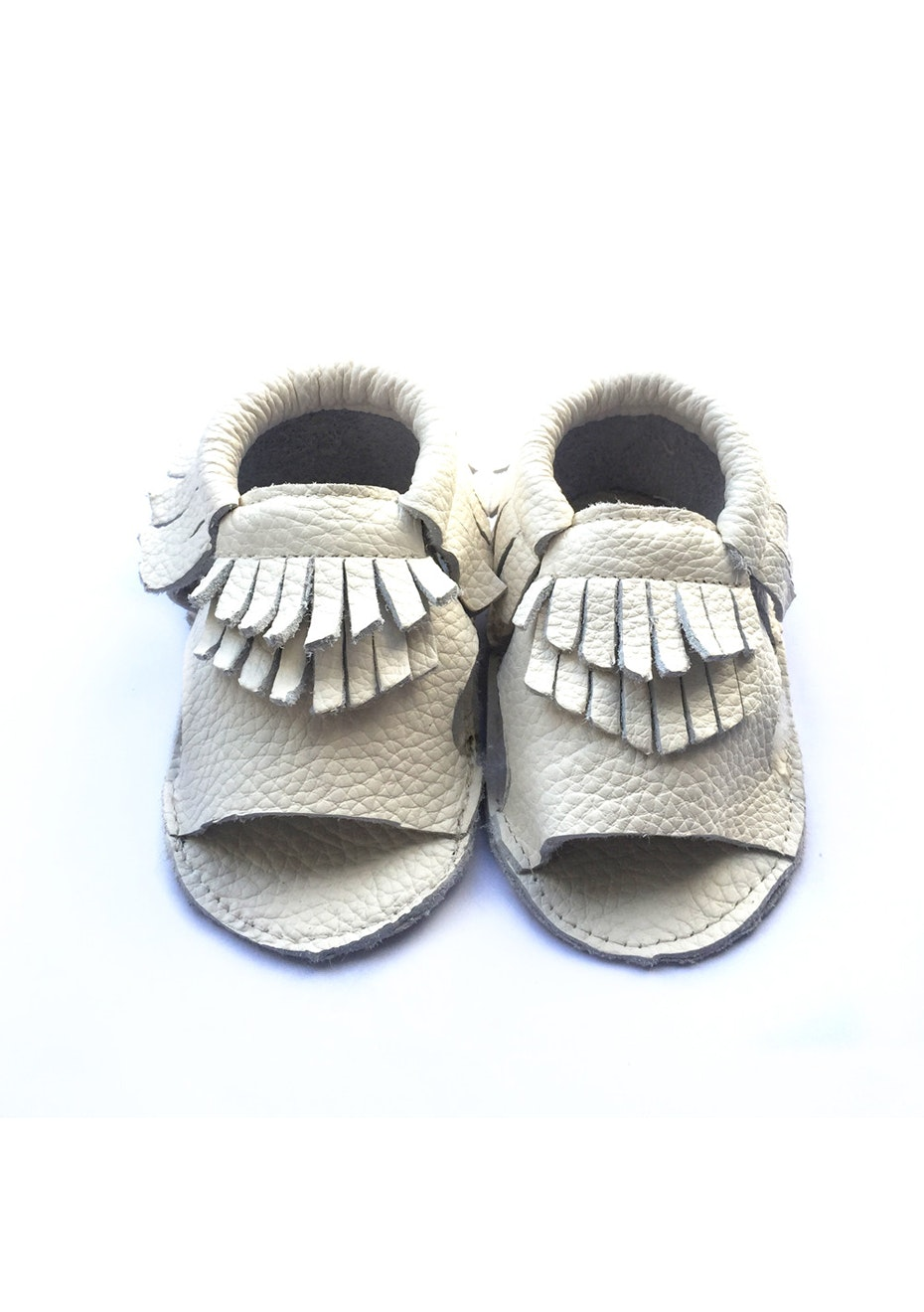 Baby  Leather Sandals - White
