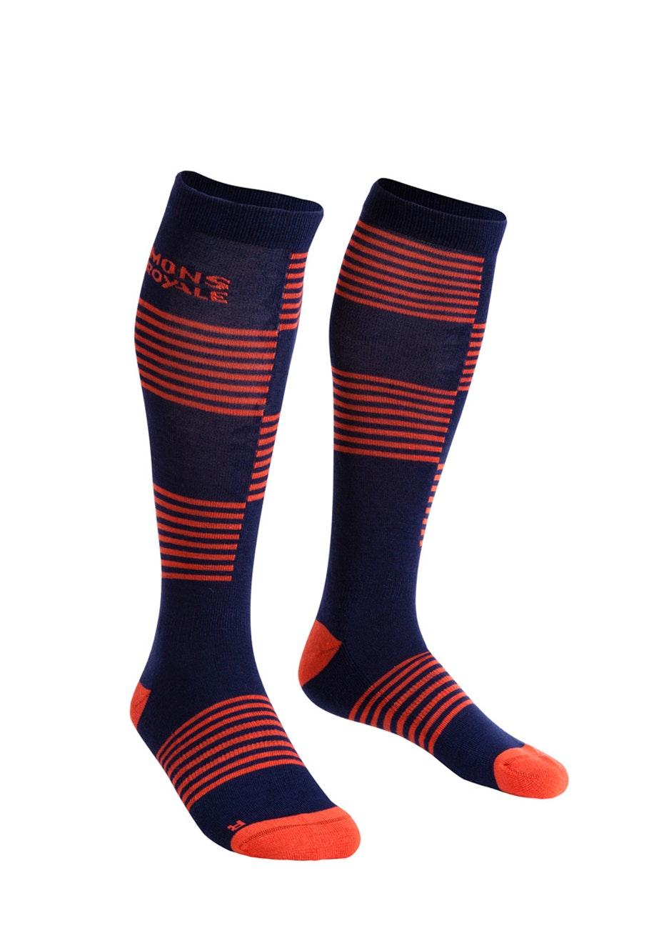 Mons Royale - Lift Access Sock - Navy / Spice