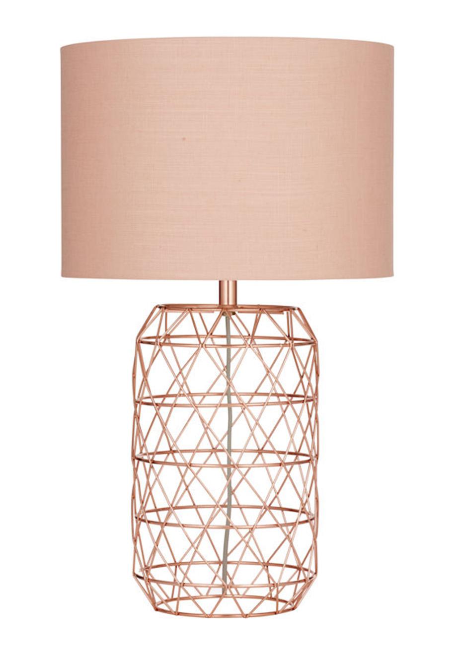 Ezra The Edit Amalfi Blush Onceit Table Metalpink Copper Lamp 13TlFcKJ