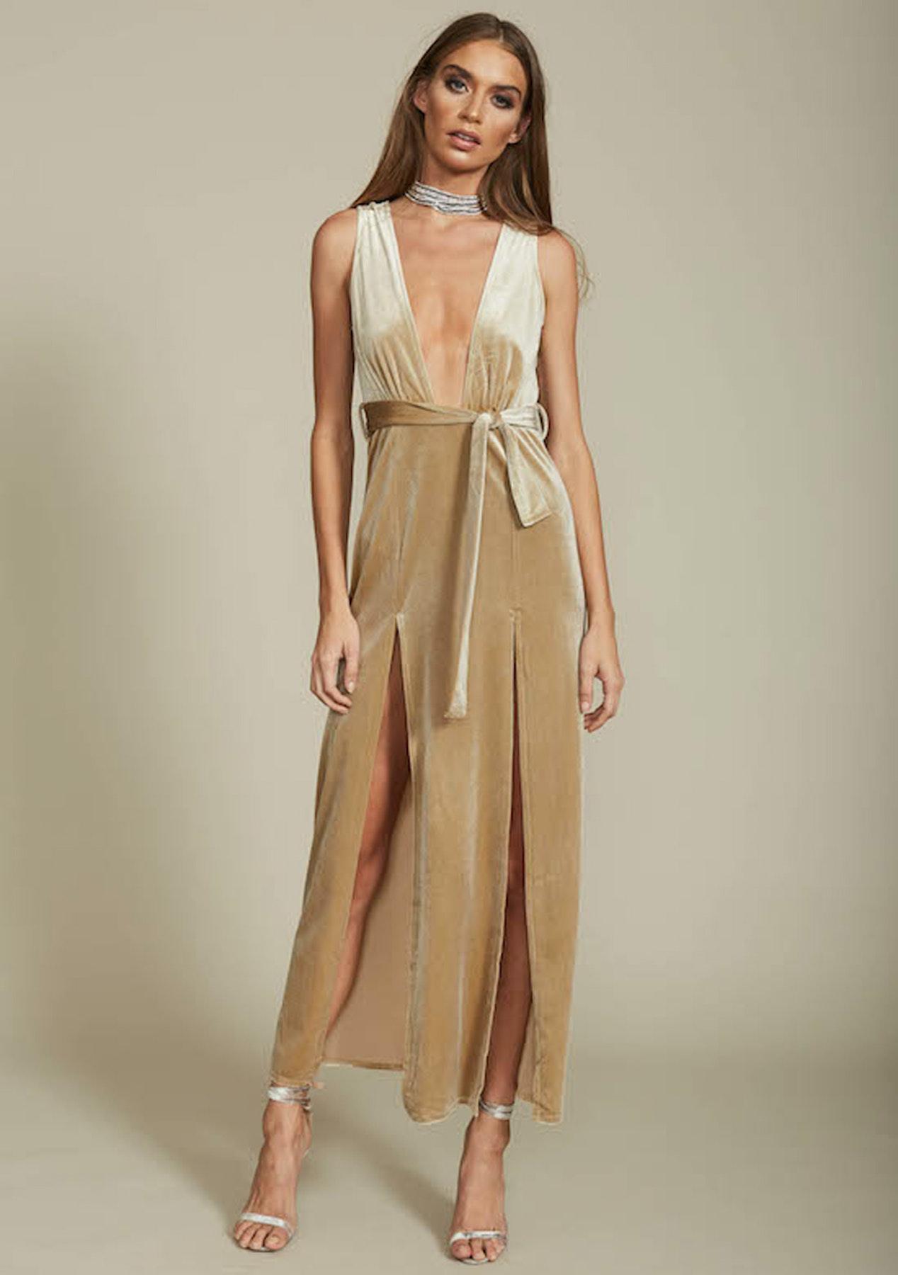 5fcfadda0125 Lioness - Shut It Down Velvet Dress - Nude - Shopping Spree Womens Under  $50 - Onceit