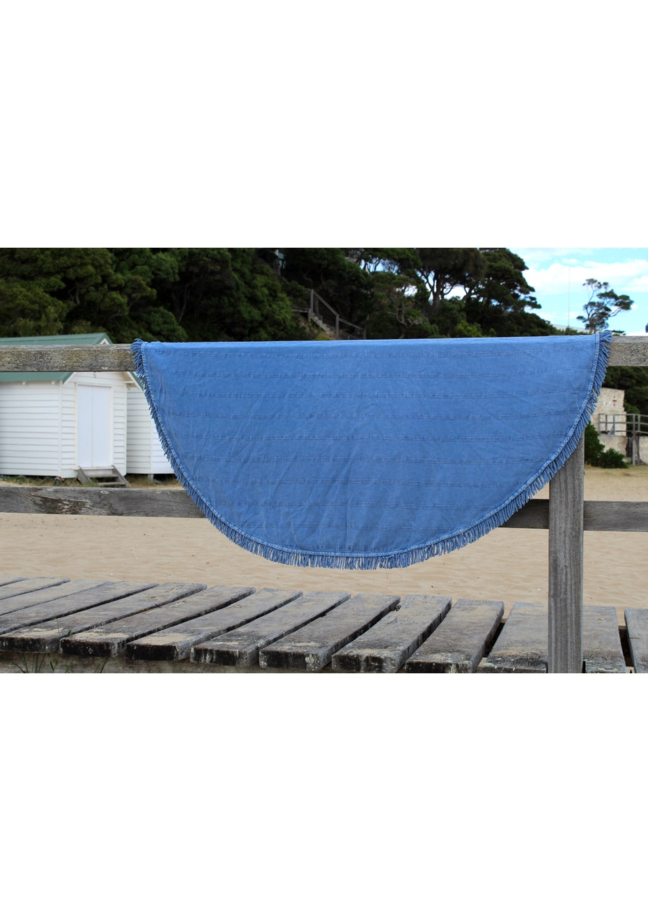 Round Adore Blue Towel