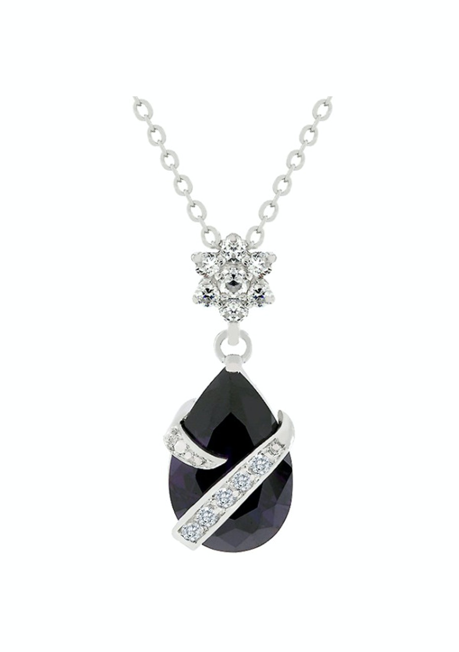 Royalty Amethyst Coloured Pend Necklace
