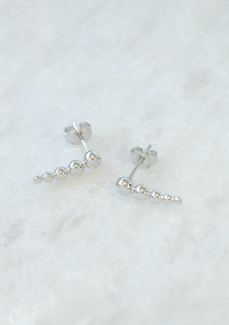 Bubbles earring - Silver