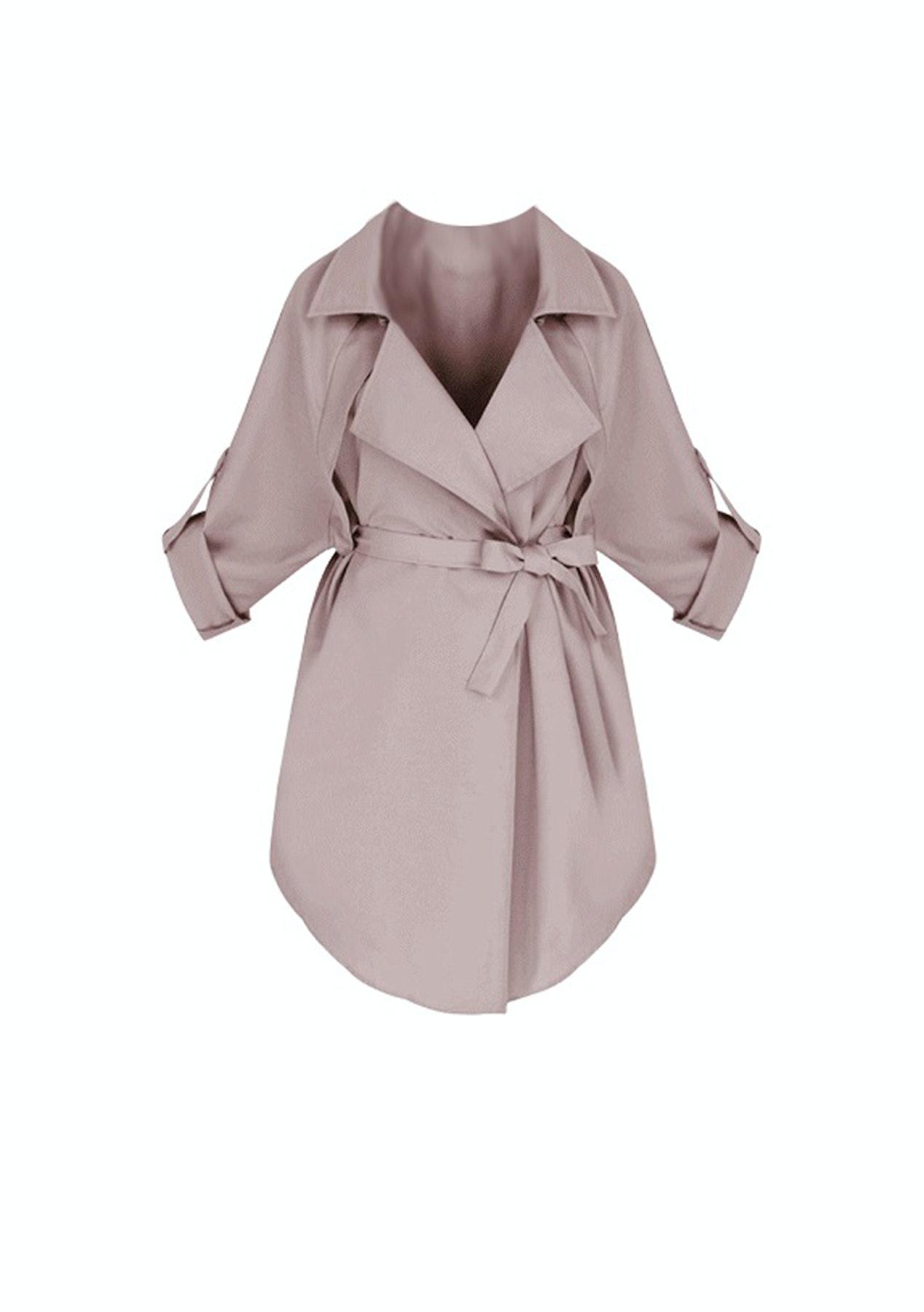 Fashion Edit  - Jordan Light Weight Trench - Dusty Pink