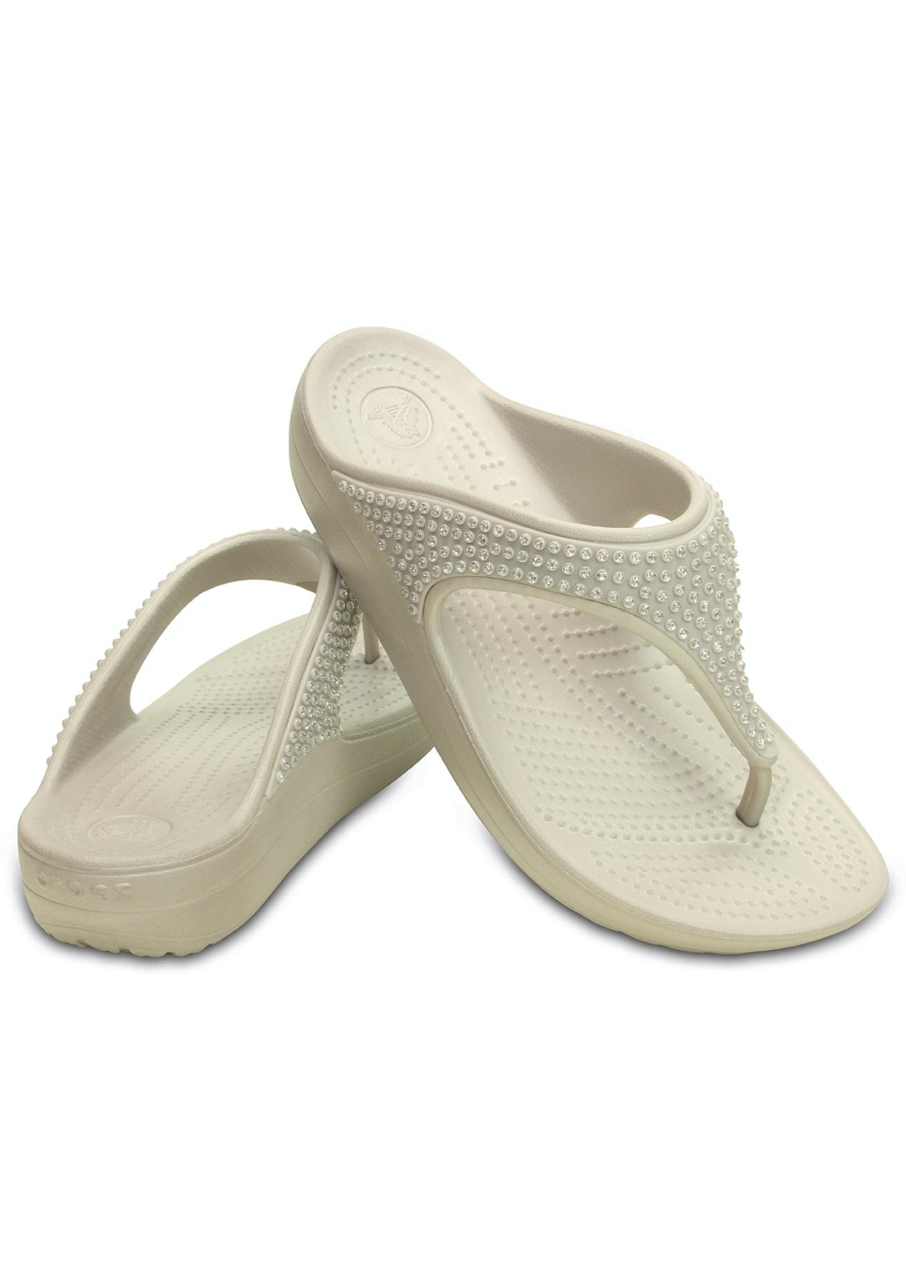 6552c5b5cdf4 CROCS - Womens Crocs Sloane Diamante Flip - Platnium - Crocs - Onceit