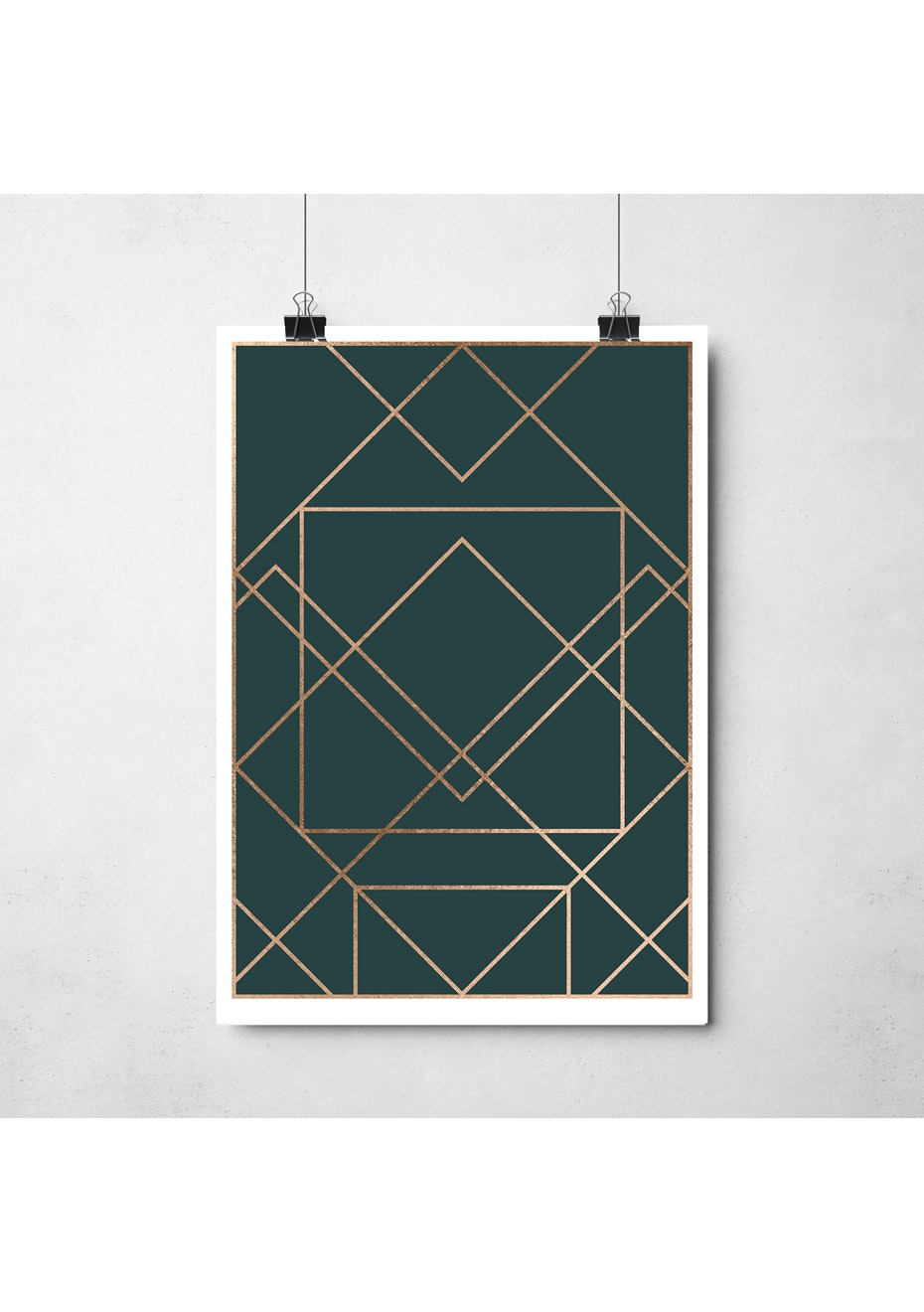 Simply Creative - Emerald - A3 Copper Foil Print
