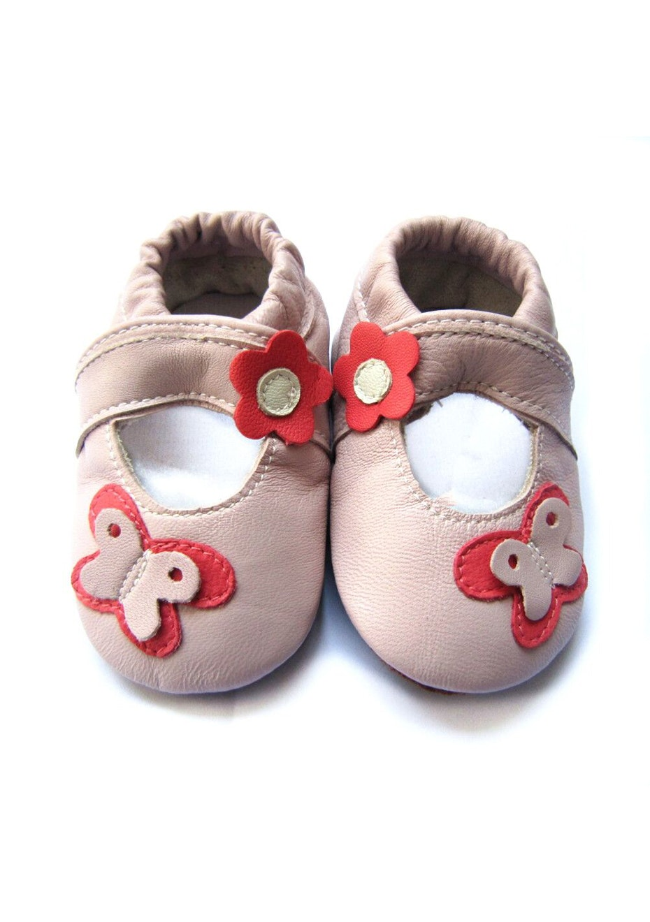 Baby  Leather Shoes - Soft Pink