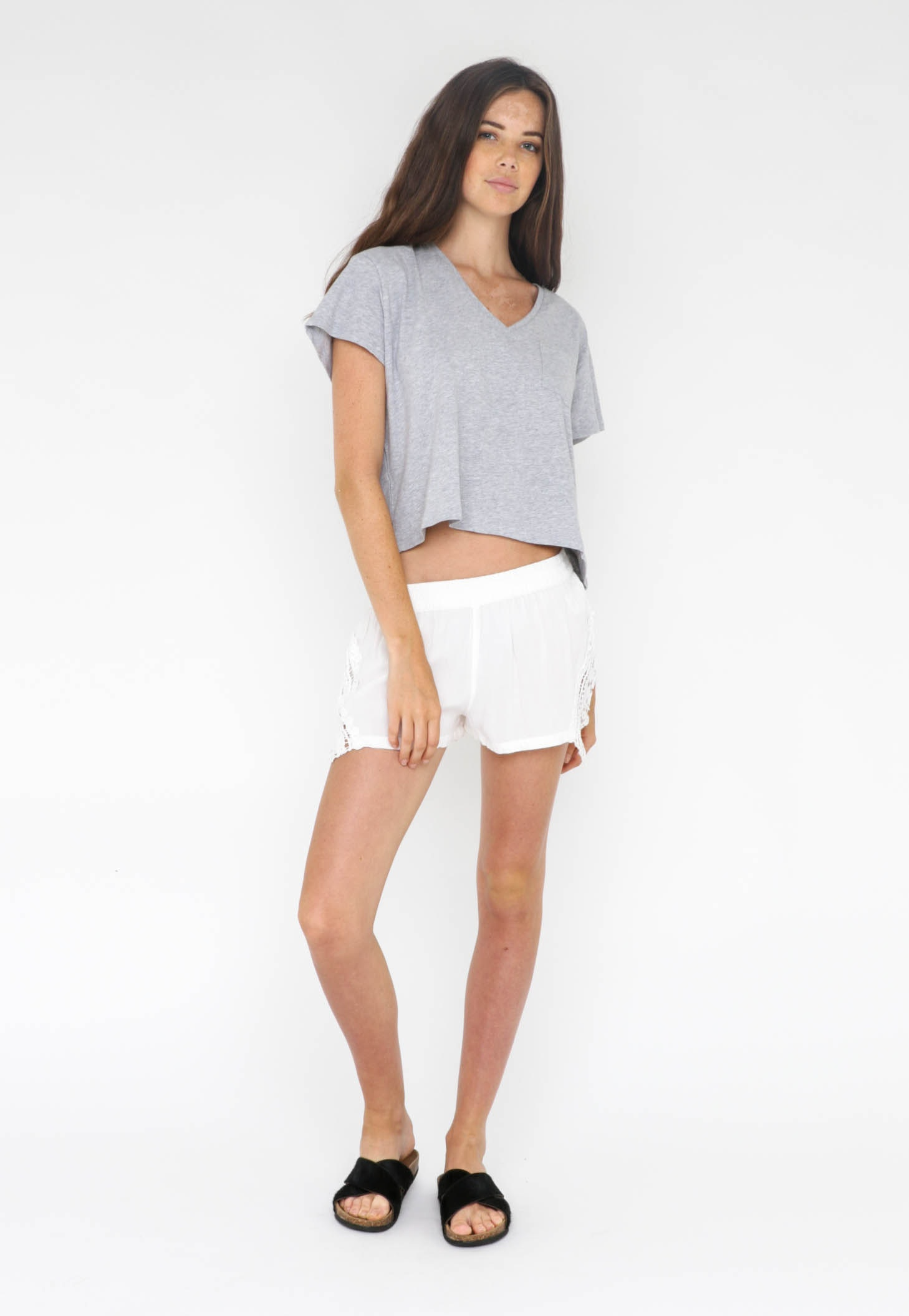 All About Eve  - Hippe Love Hipster Shorts - White