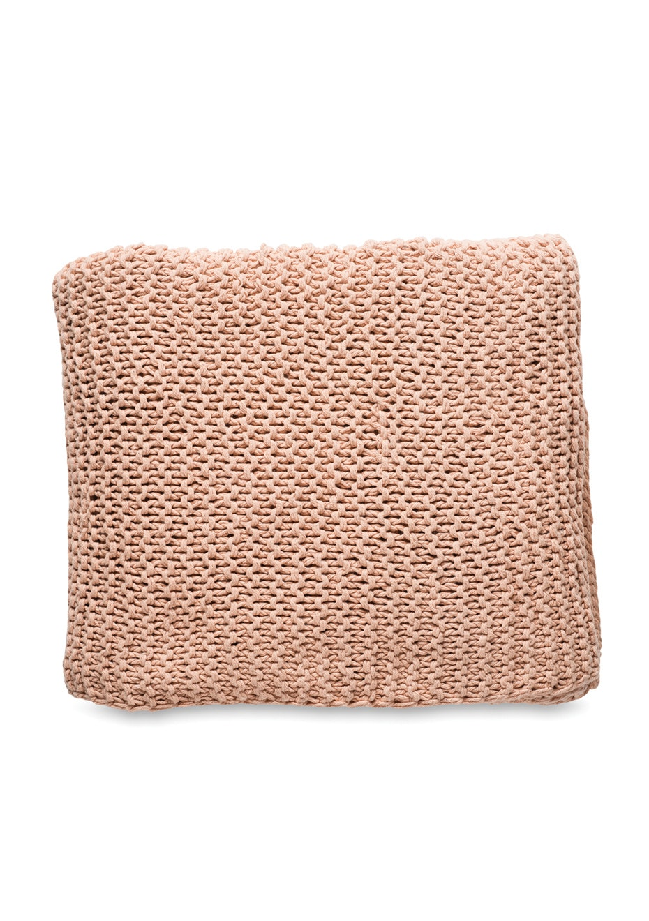 Citta - Purl Stitch Cotton Throw - Cameo