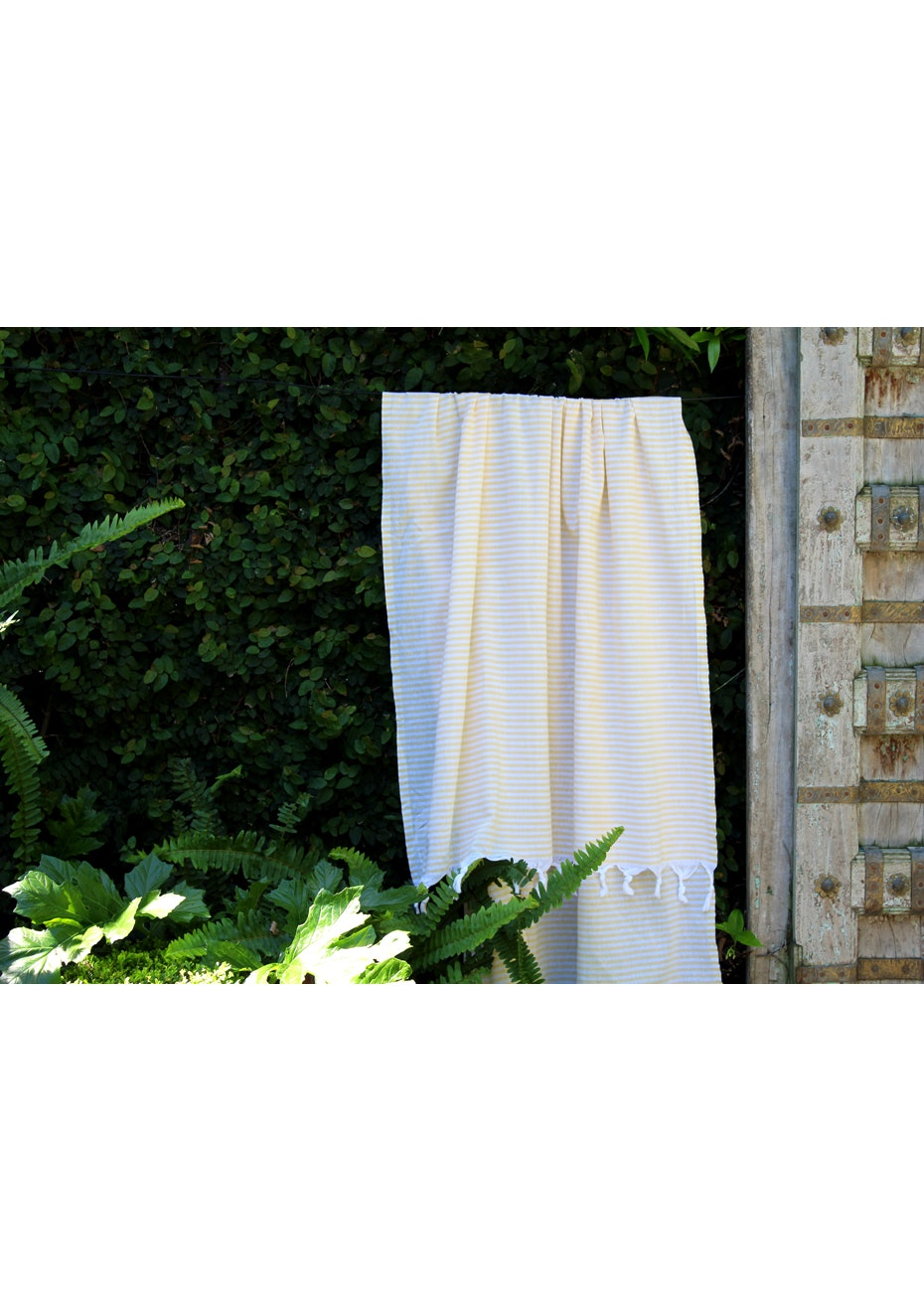 Fresh Yellow Stripe Turkish Towel
