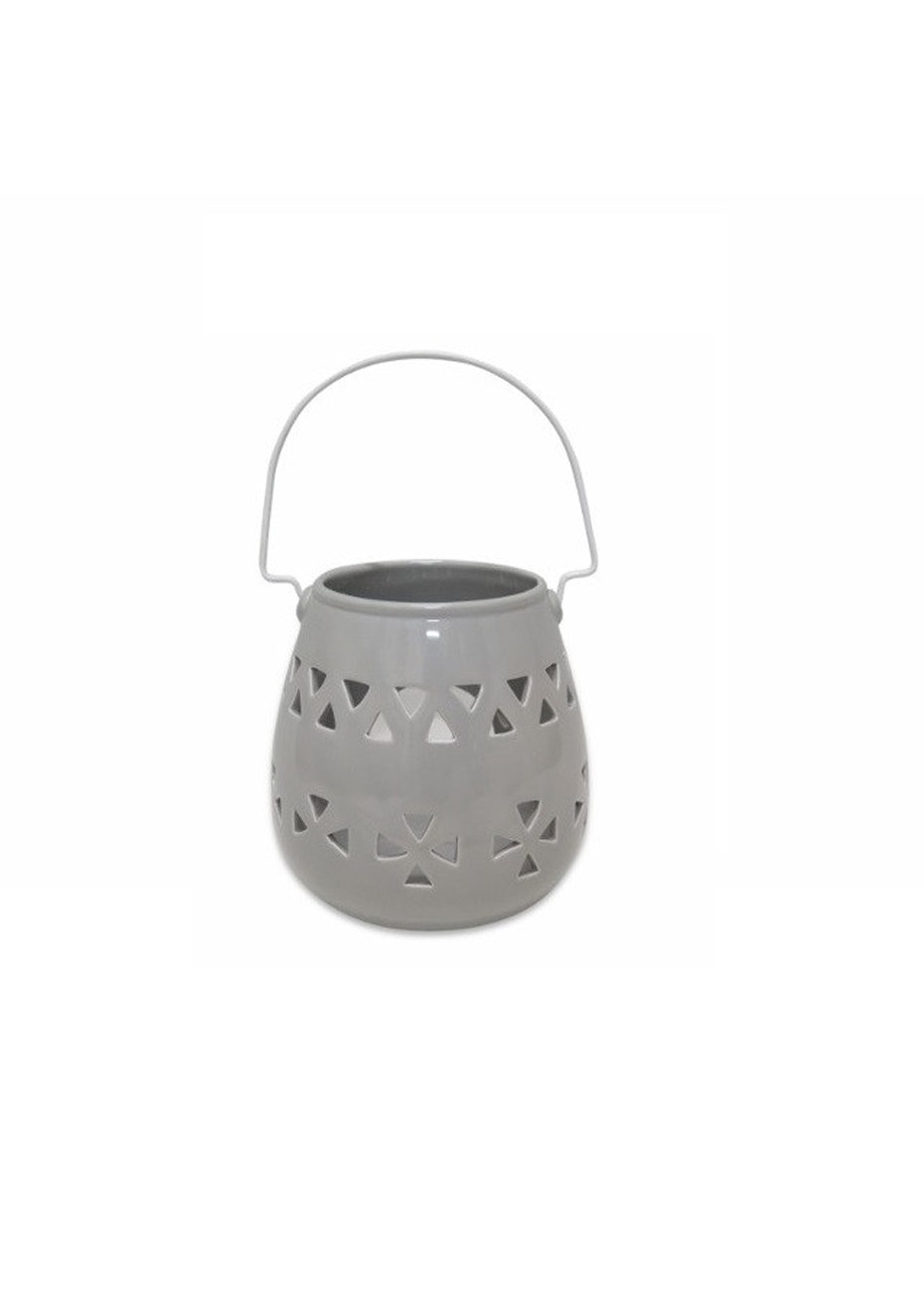 Me & My Trend - Large Grey Triangle Cut Out Lantern