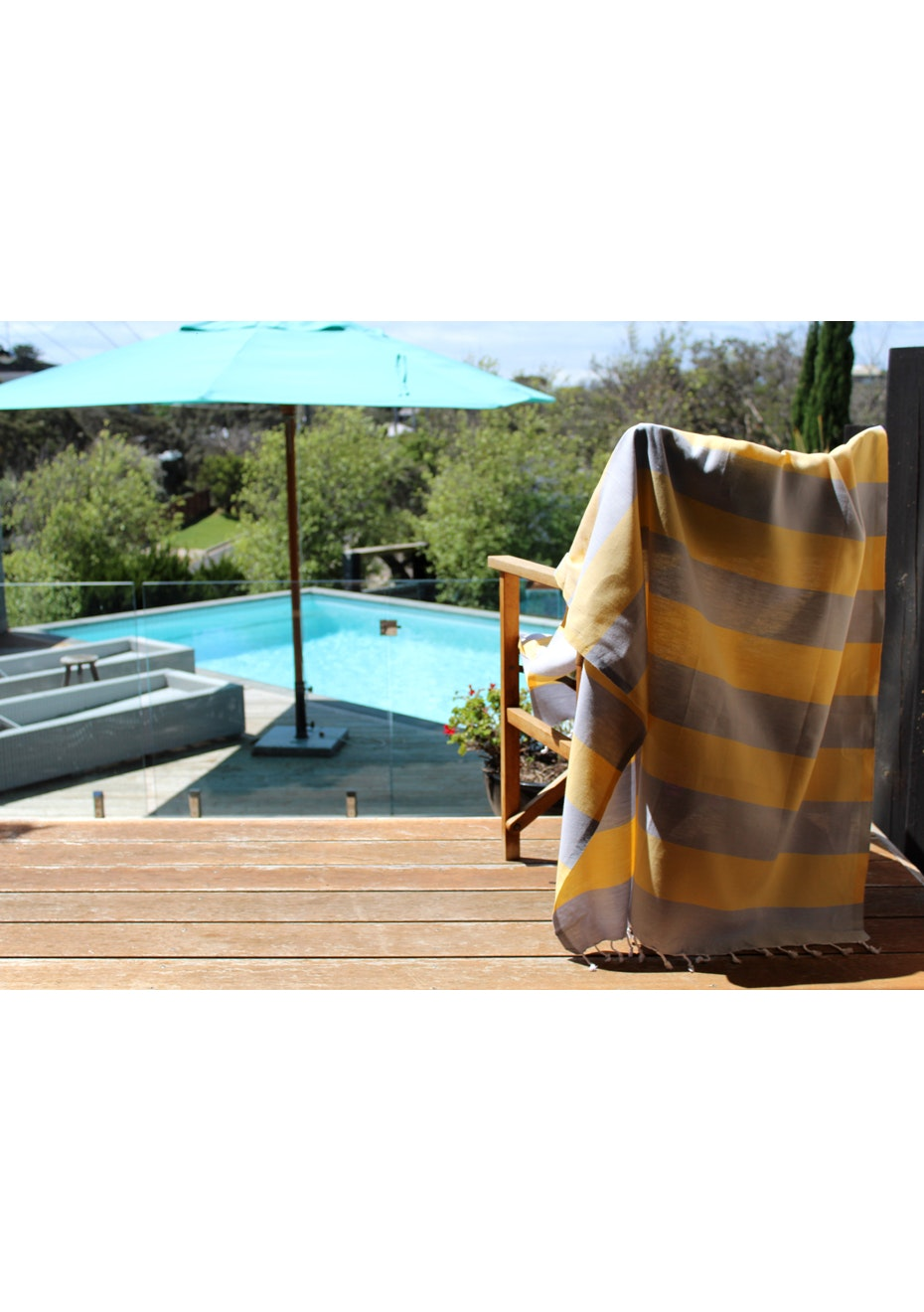 Tenedos Grey & Yellow Turkish Towel