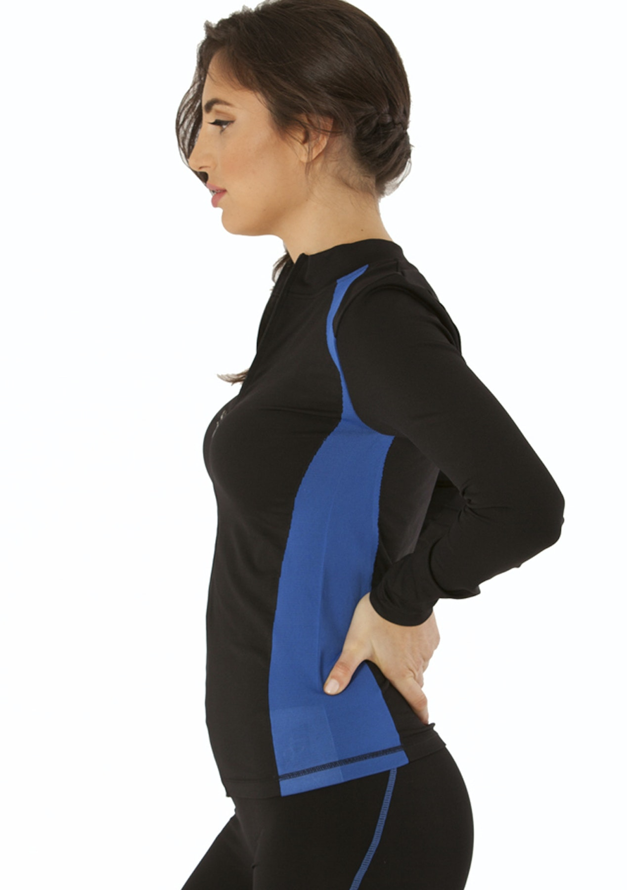 1af9425034 Electric Yoga - Jacket With Stitching - Black Royal Blue - Under $40  Activewear Sell Out - Onceit
