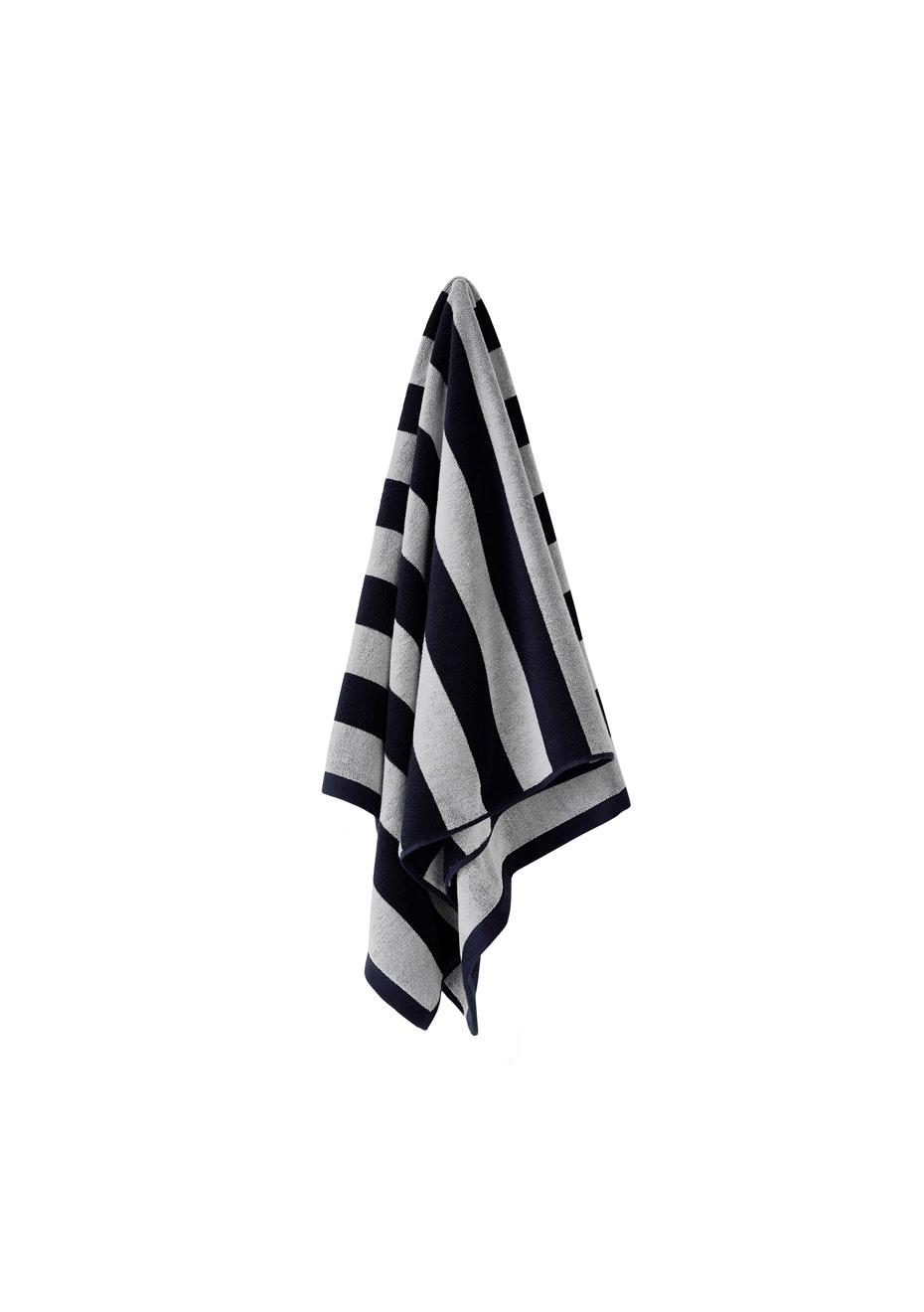 Aura Stripes Bath Towel 700 X 1400Mm Indigo