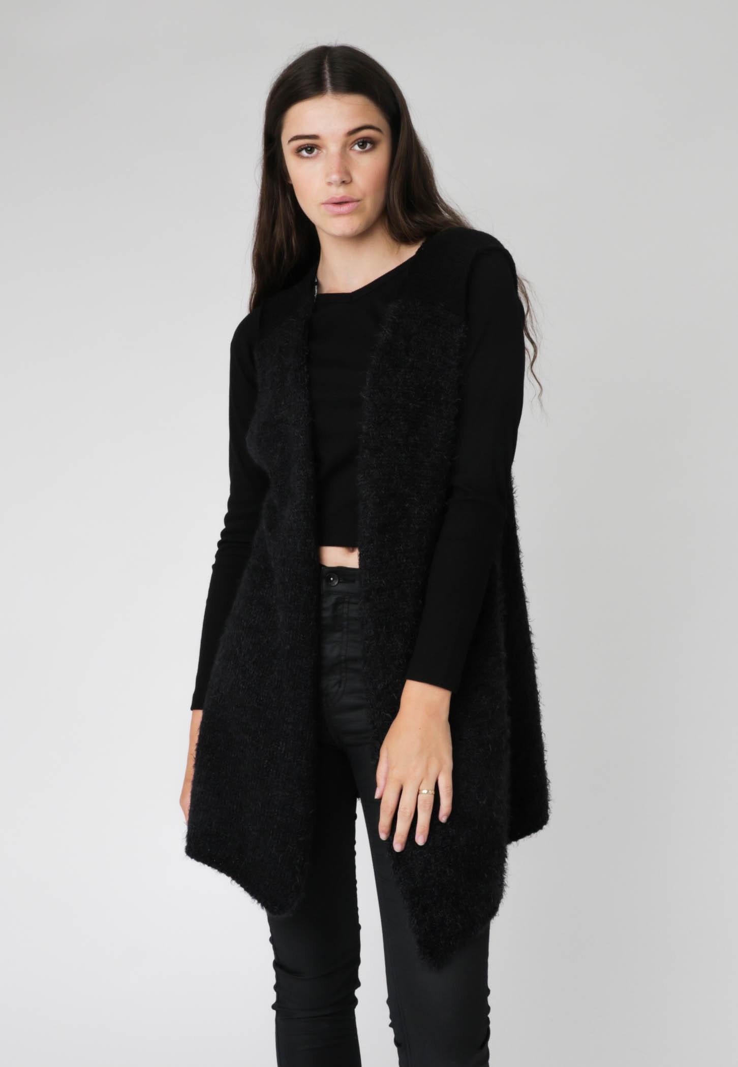 All About Eve - Vest Landis Fur - Black