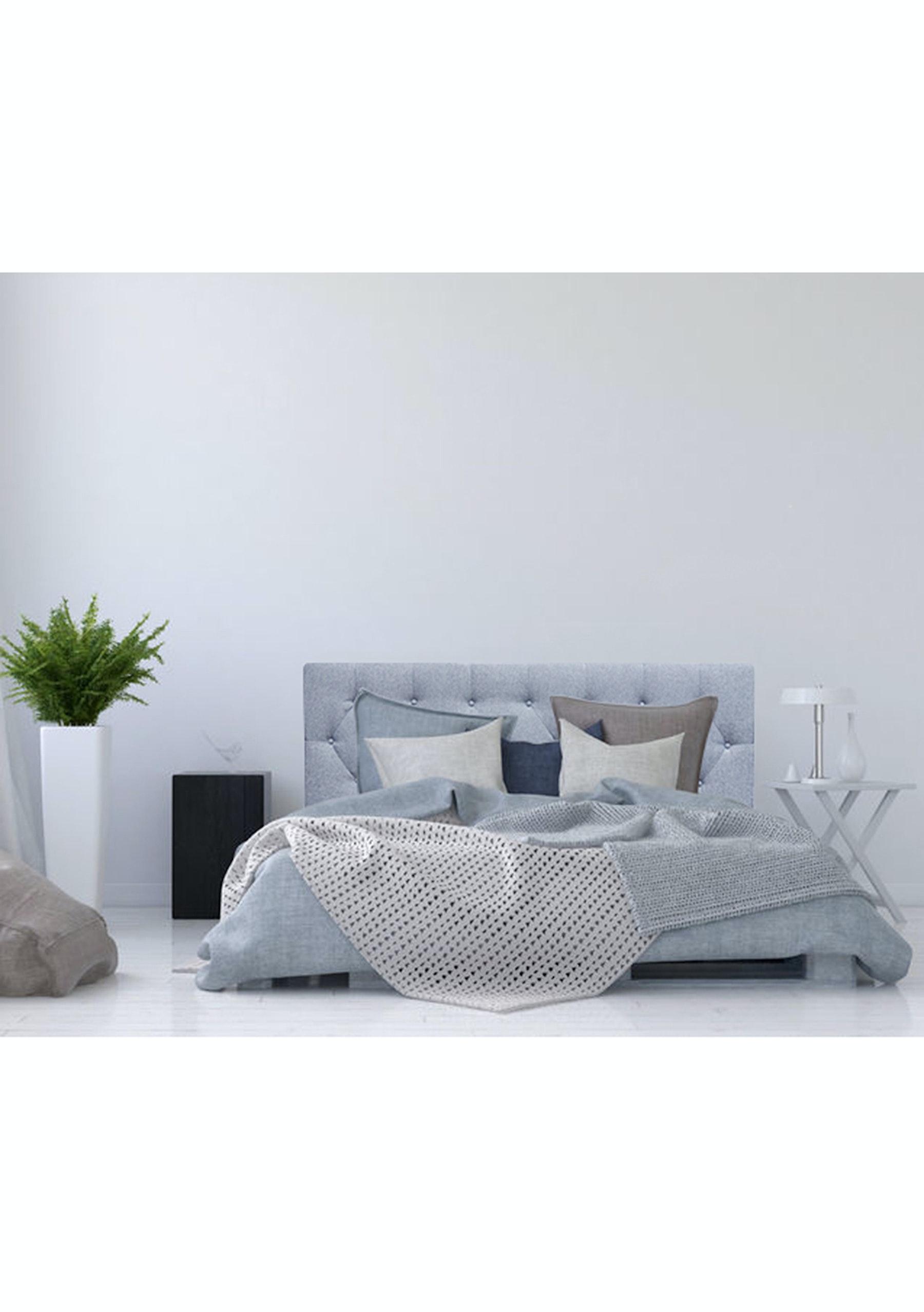 Linen blend headboard king grey marle headboards sofas more onceit